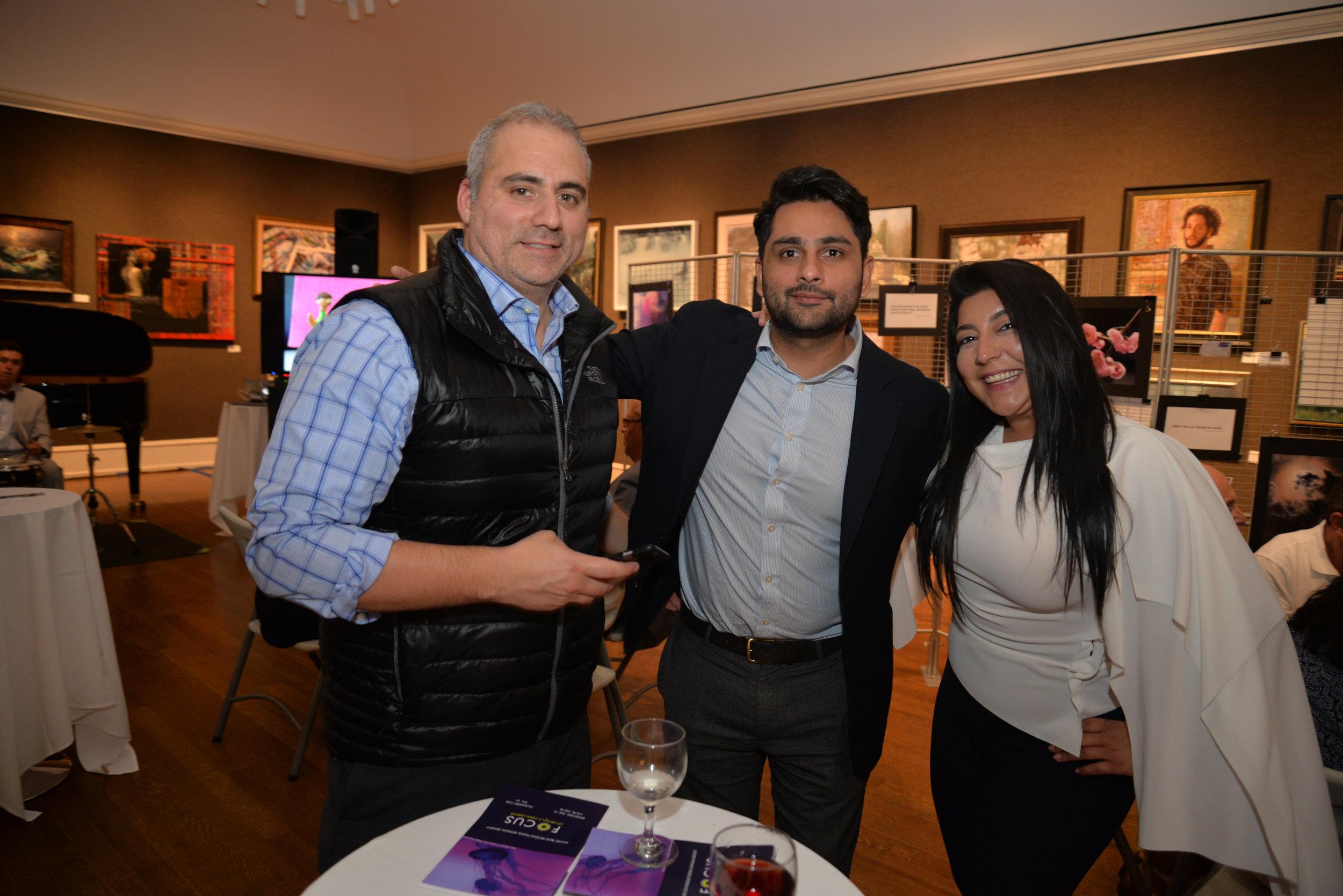 Richard Hervas, Sarfaraz Rajan, and Shireen Hilal]