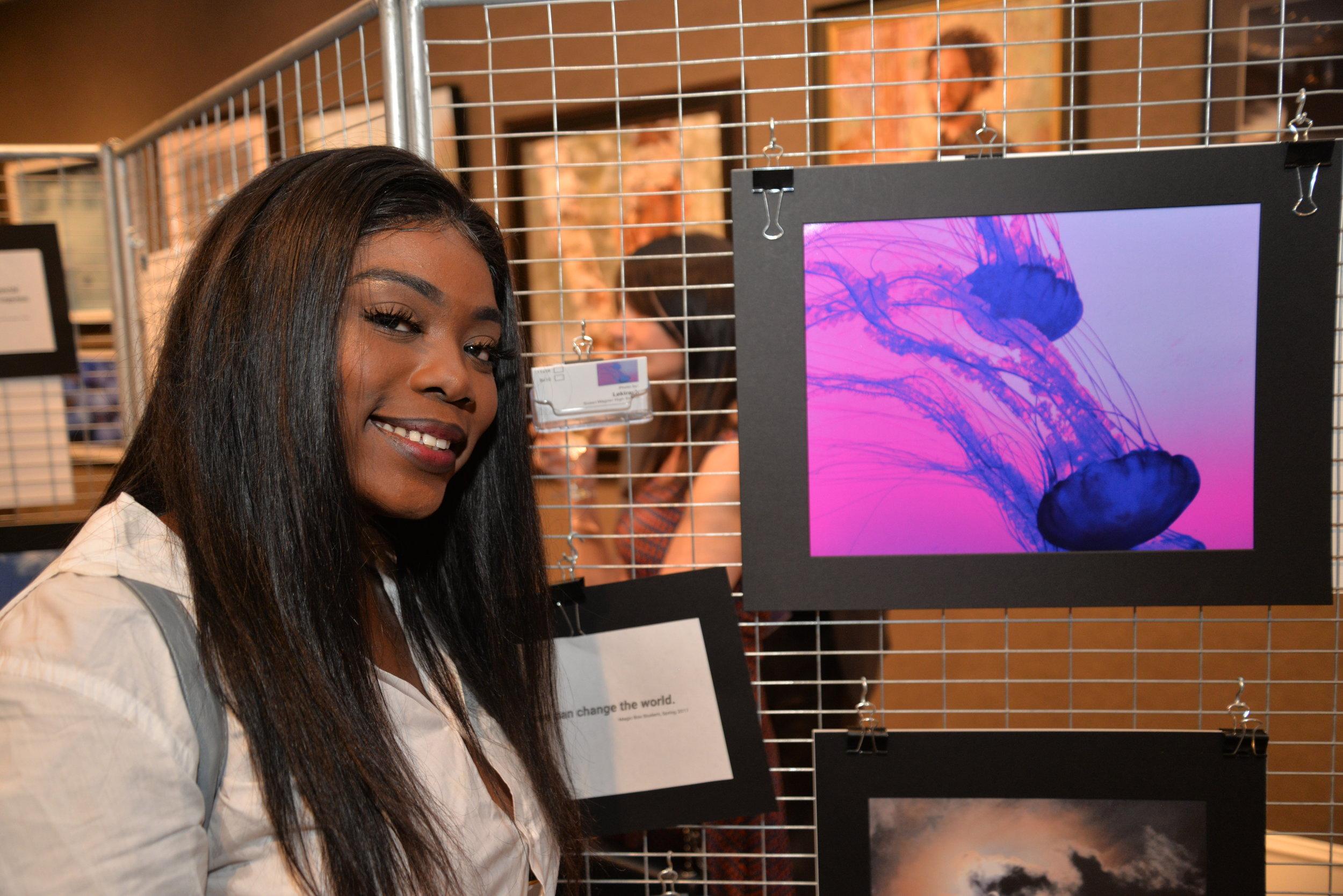 Magic Box Student Lekiyrah with her photograph