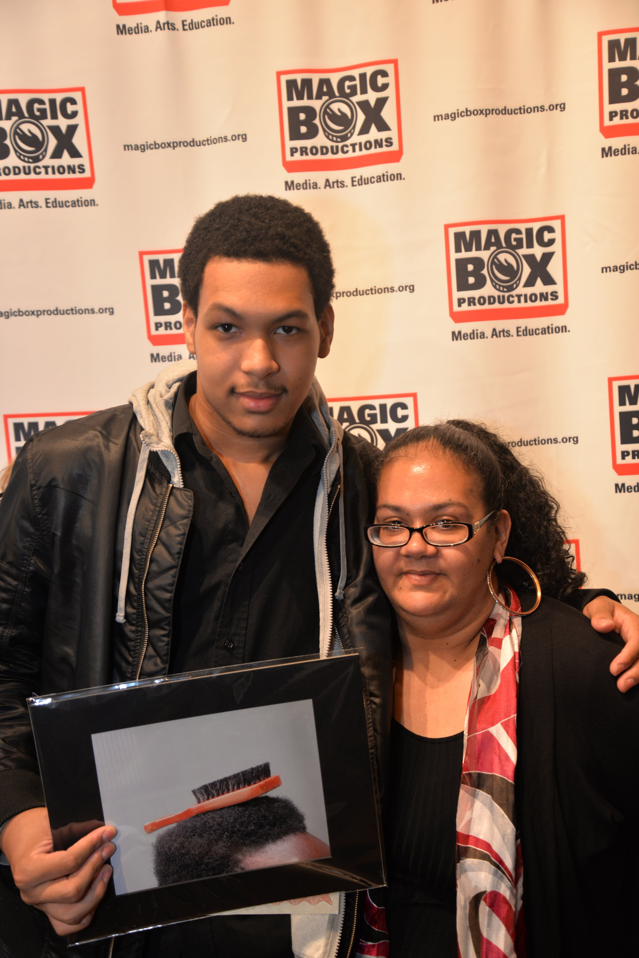 Magic Box Student Brandon with his mother