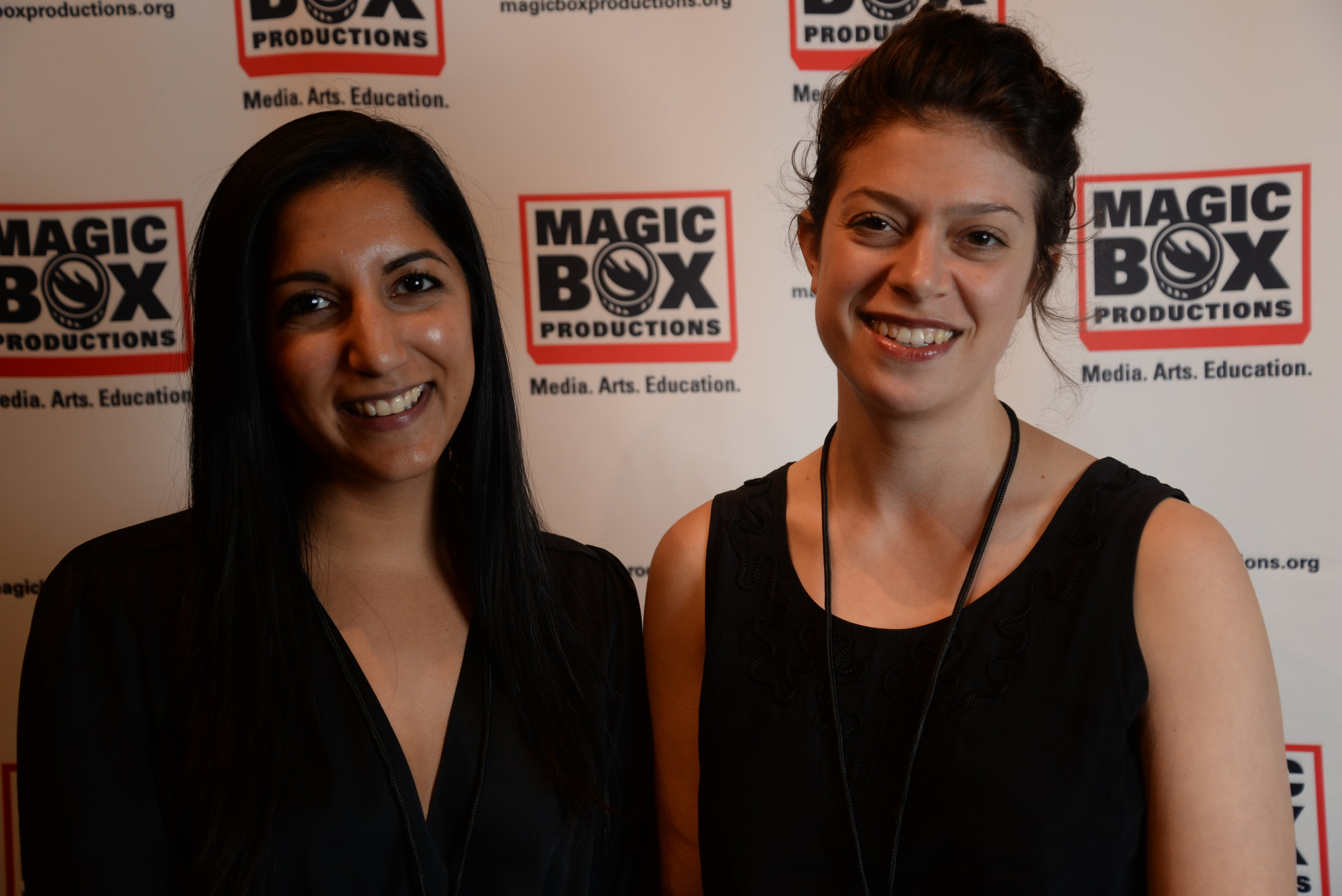 Magic Box Executive Board Members Pashmeena Hilal and Nora Rodriguez