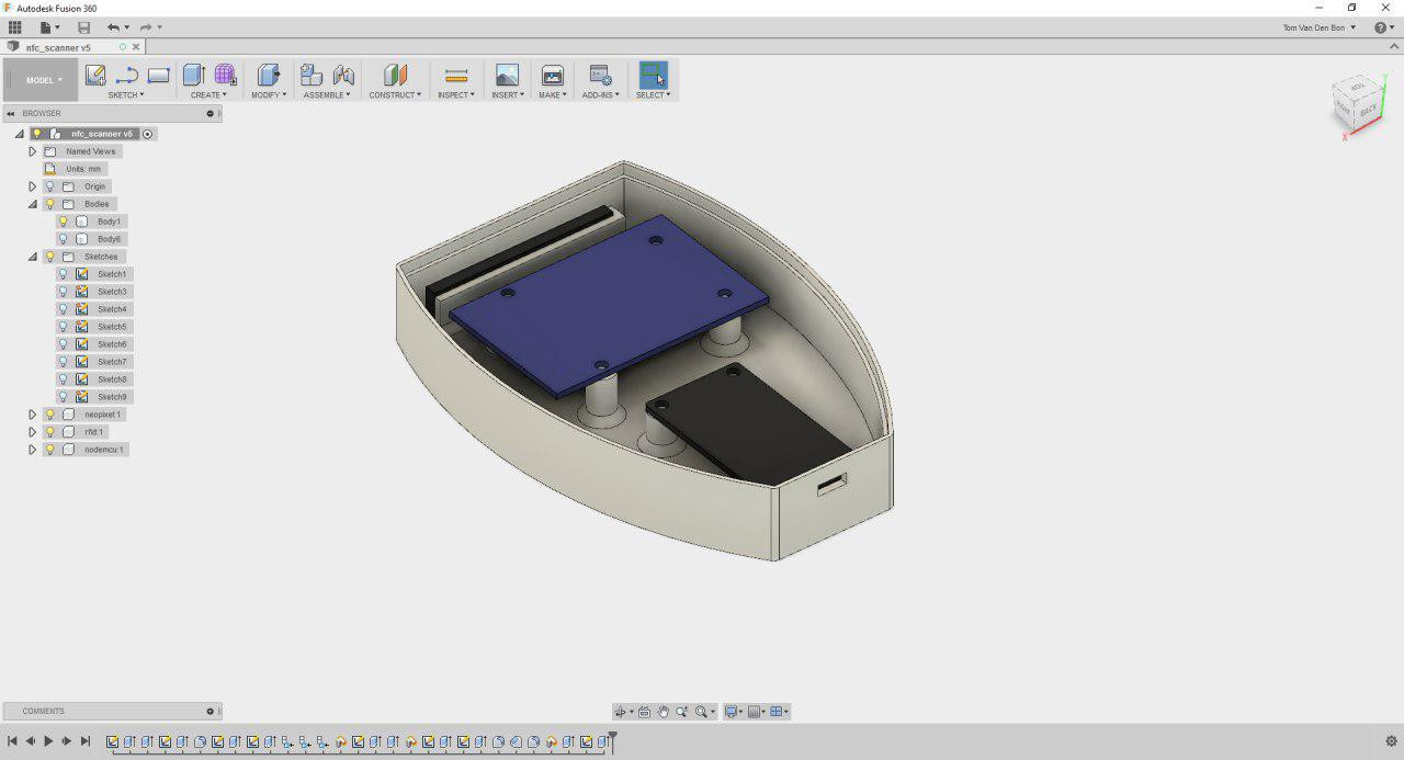 We extensively used Fusion 360 to design all our props and gadgets