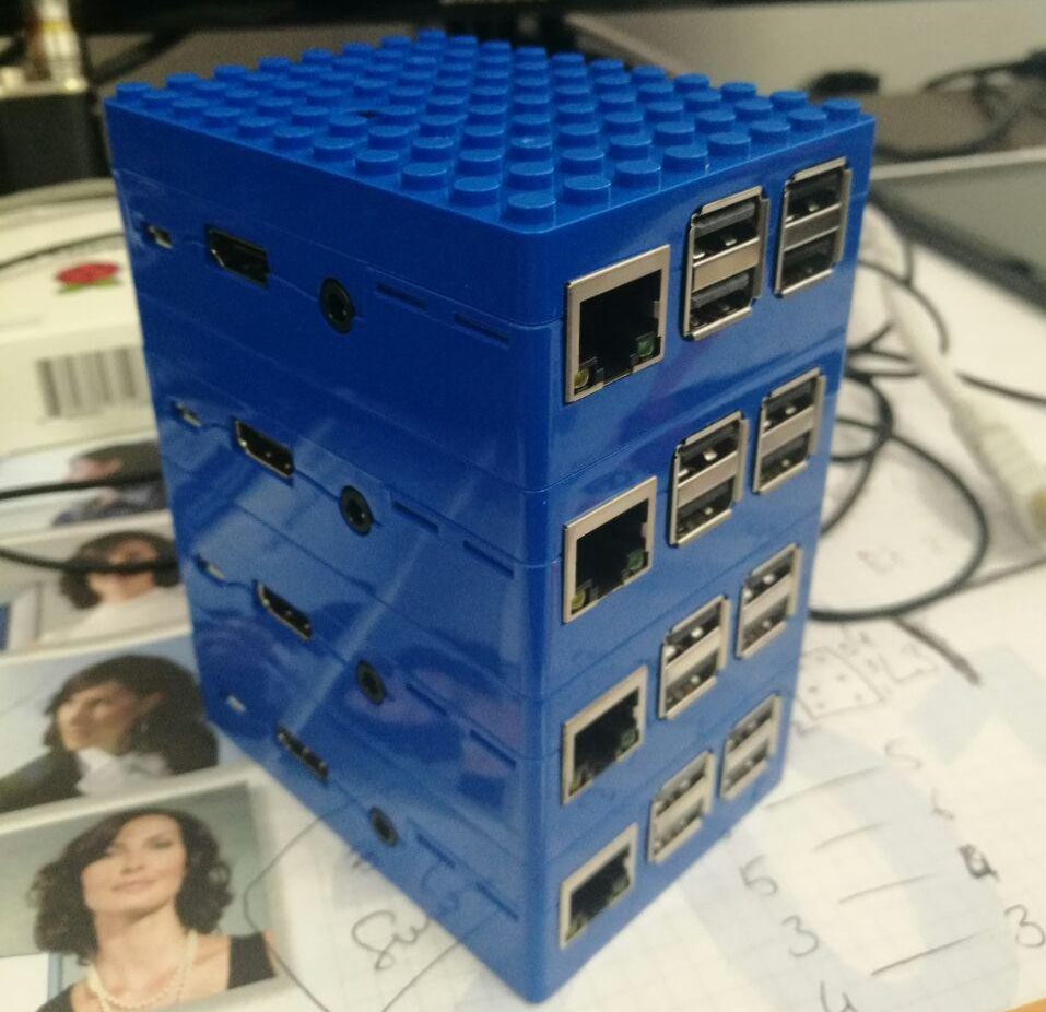 Stack of Raspberry Pi Computers