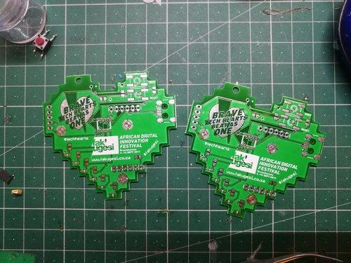 PCD Event Badges built for a Local Tech Festival