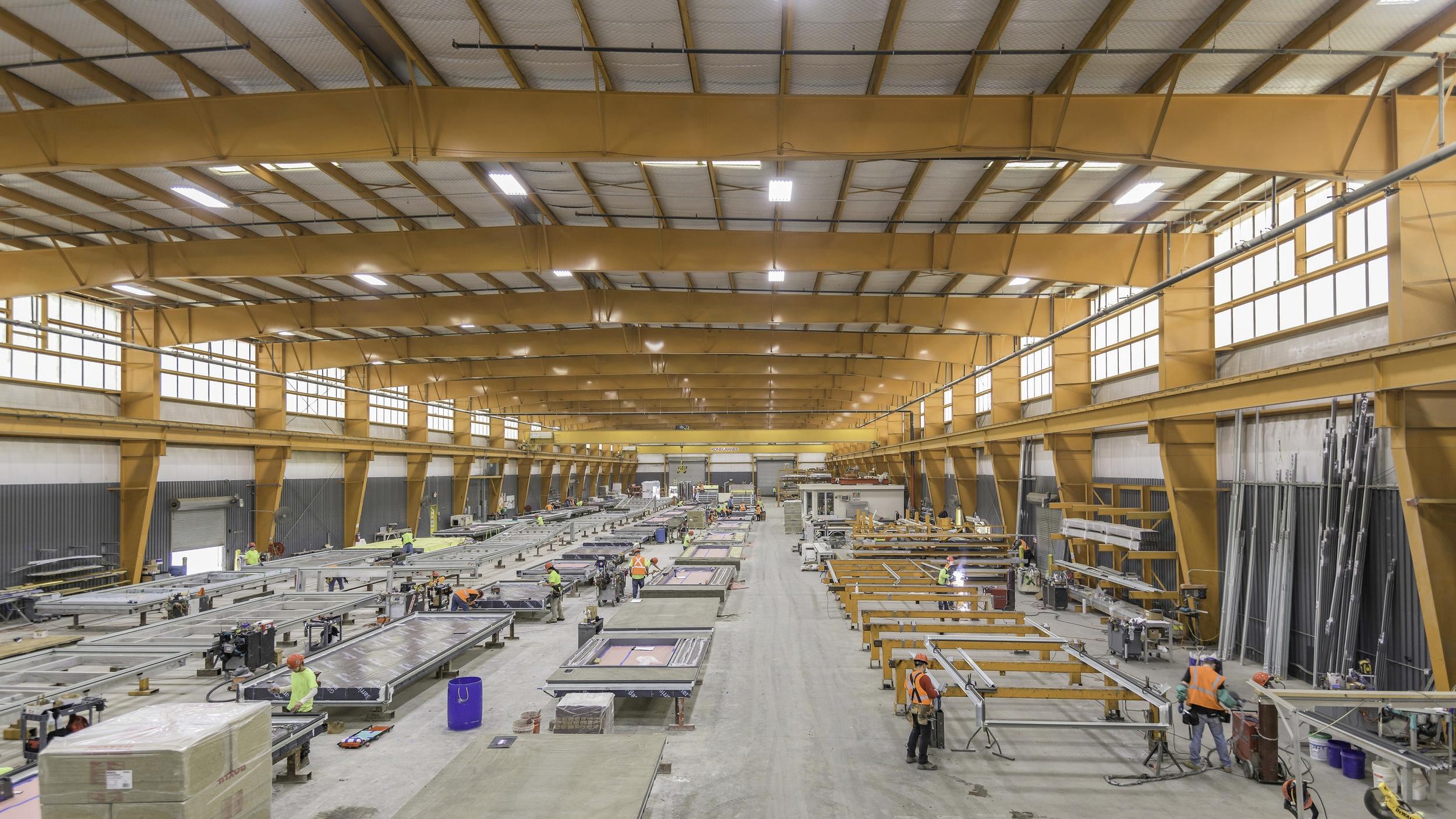 Megapanel fabrication facilities.