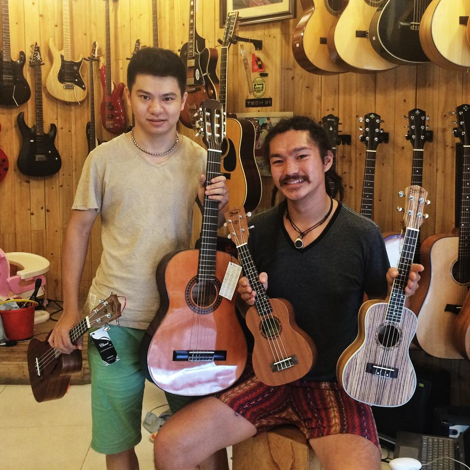 Instrument sponsorship from Trần Thắng, one of Vietnam's most famous guitarists and owner of Hanoi's best guitar shop.