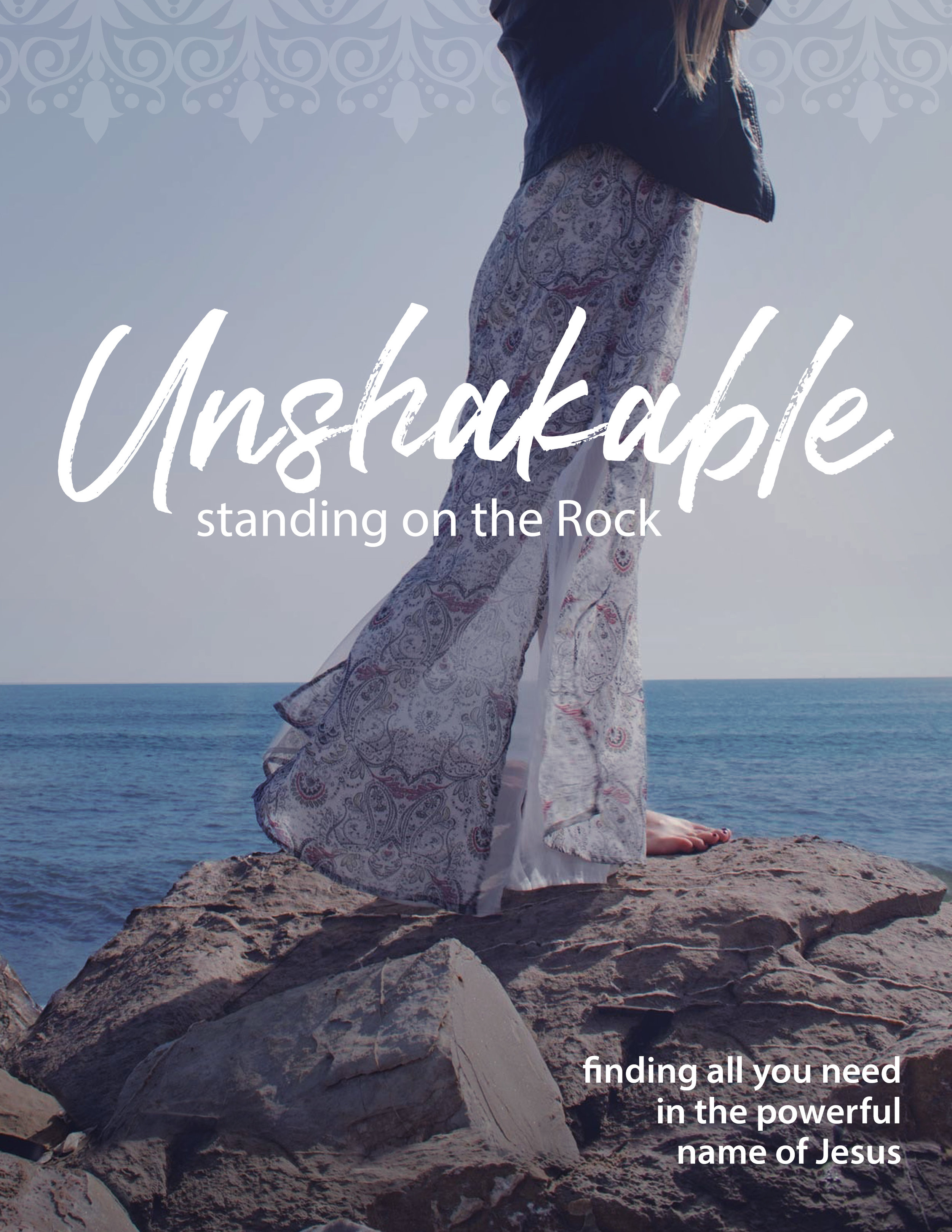 Unshakable, - standing on the RockGod is intimately acquainted with each and every detail of your life—past, present, and future. He knows you will be shaken in some way at some point and wants to prepare you for whatever lies ahead. He wants to meet you where you are right now. God wants you to be Unshakable, standing firm upon the Rock.· Have you been shaken?· Are you being shaken now?· What does it mean to be unshakable, to stand firm on the Rock?· What would it be like to lead an unshakable life?Explore what it means to be Unshakable and to find all you need in the powerful Name of Jesus. Join us for this 10 week study:Wednesdays beginning September 11, 2019The Chapel Libertyville9-11amClick HERE for registration details.ANDThursdays beginning September 19, 2019Christ Church, Lake Forest9:15-11:15amClick HERE for registration details.