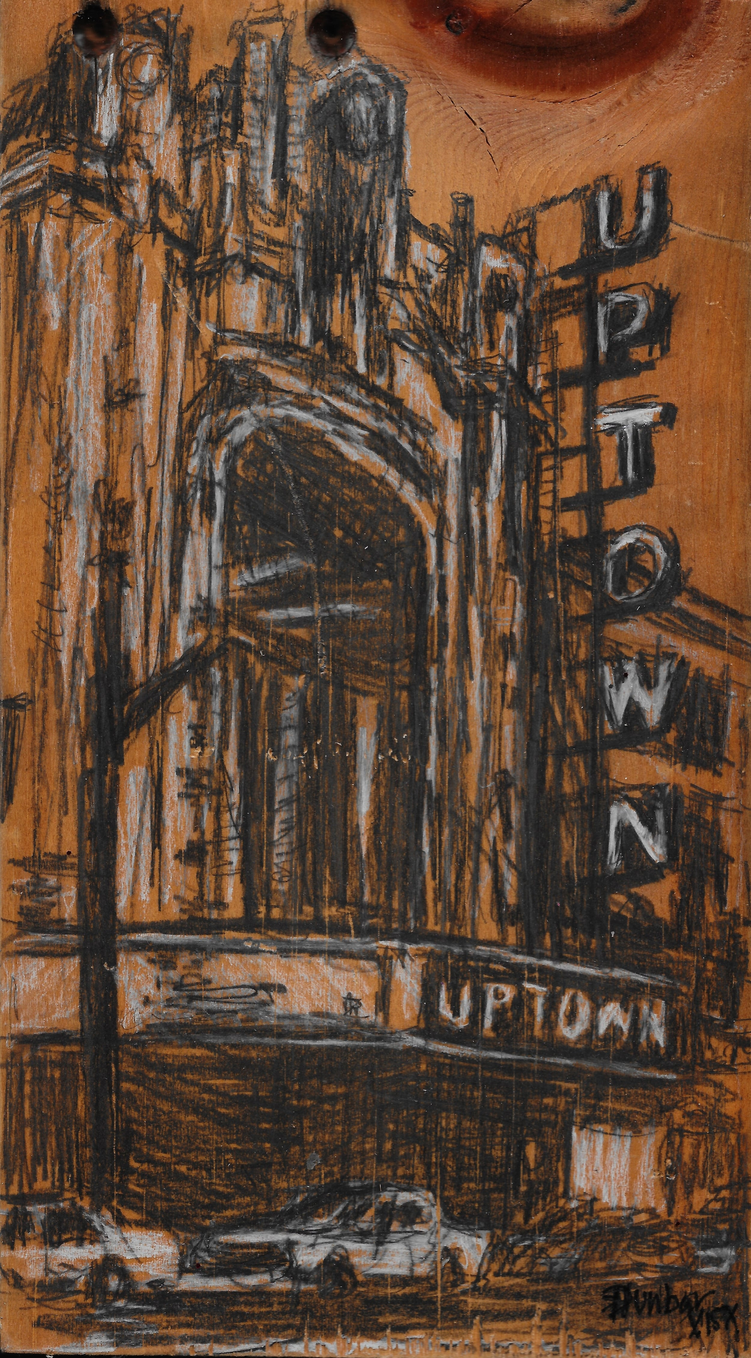 "The Uptown Theater - $80.00 - 9 1/2""   x 5 1/2"""