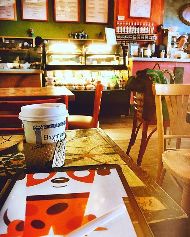 coffee + ipad doodling = happy 🙂#northamptonma #digitalart #ipadpro #procreate #coffee #othersidema #illustration #illustratorsoninstagram