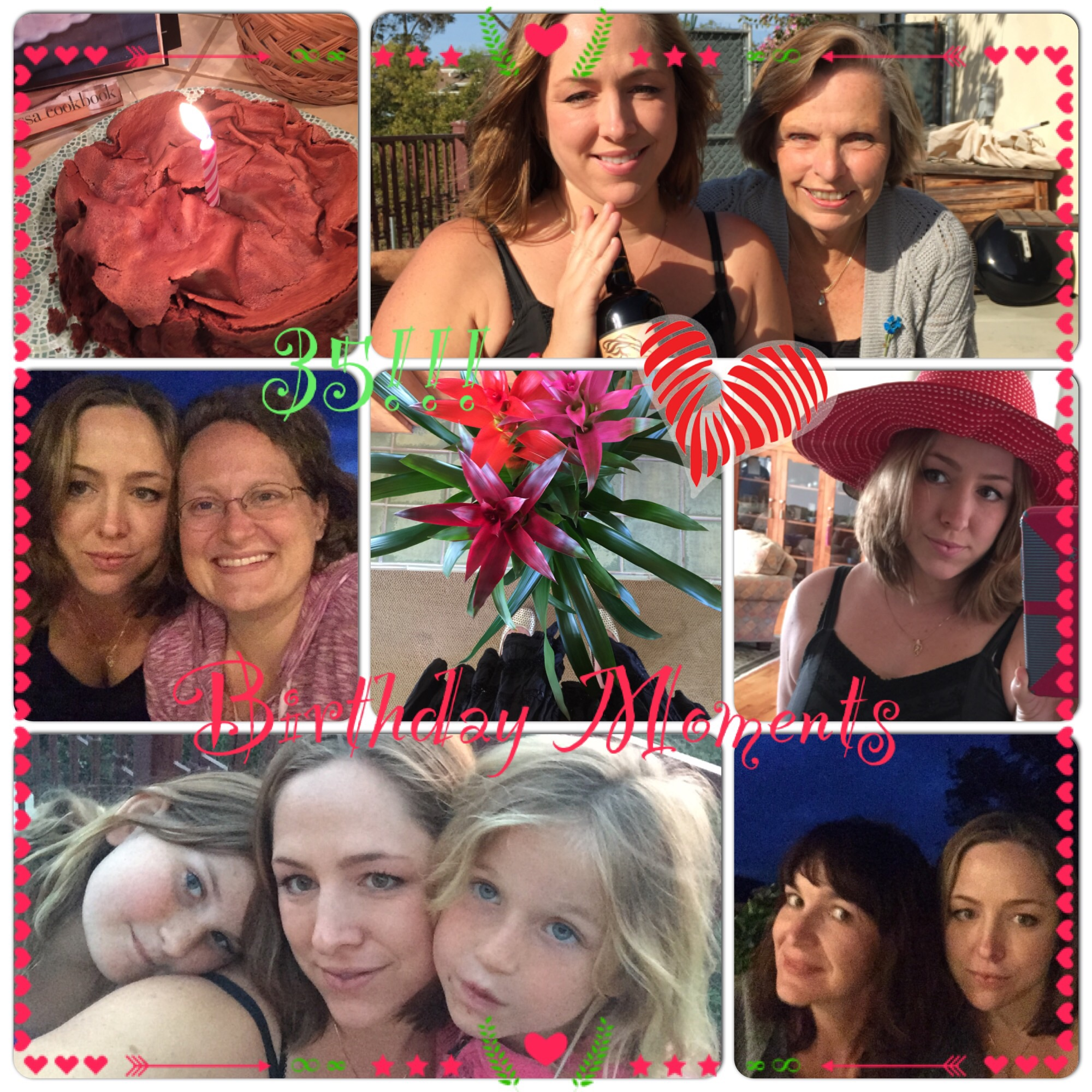 Some birthday moments with my sweet and special friends and family!