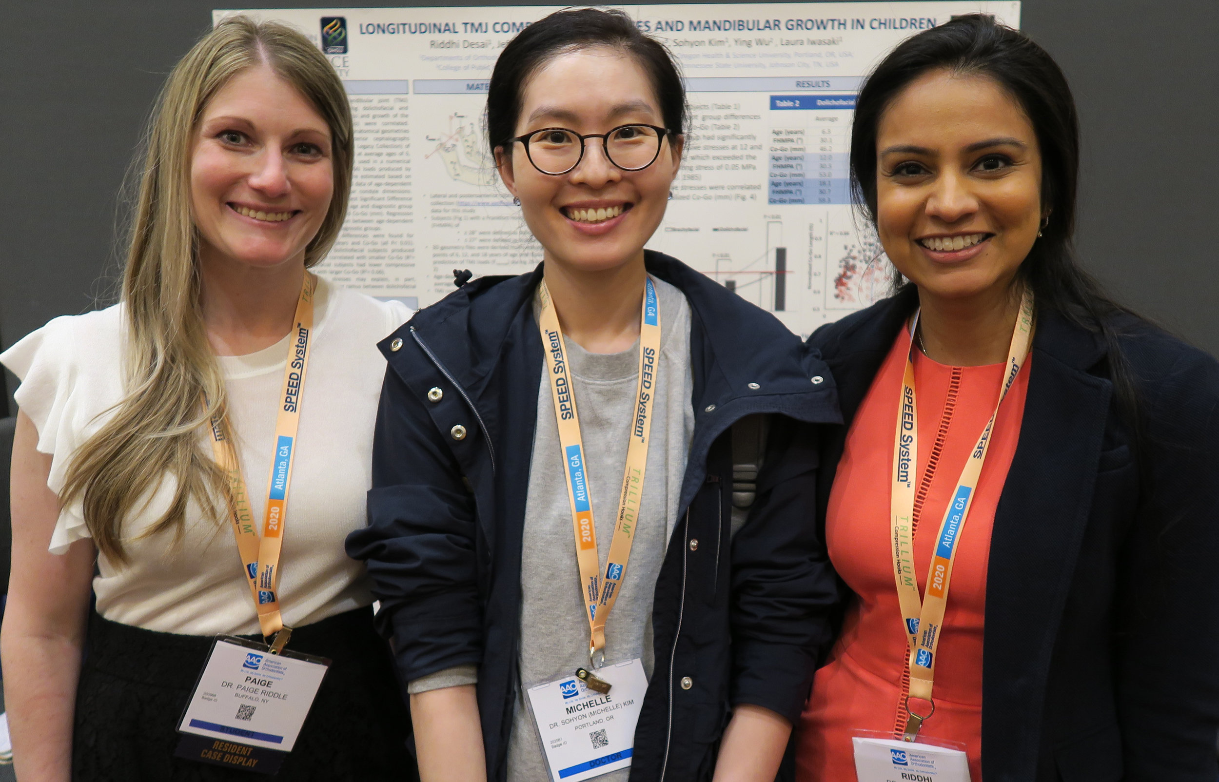 Pictured: Paige Riddle Covington (U Buffalo), Michelle Kim (OHSU), Riddhi Desai (OHSU)