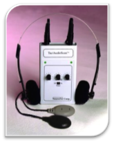 This is the Tac Scan device that is used to send tones and pulses to the client.  The therapist controls it.