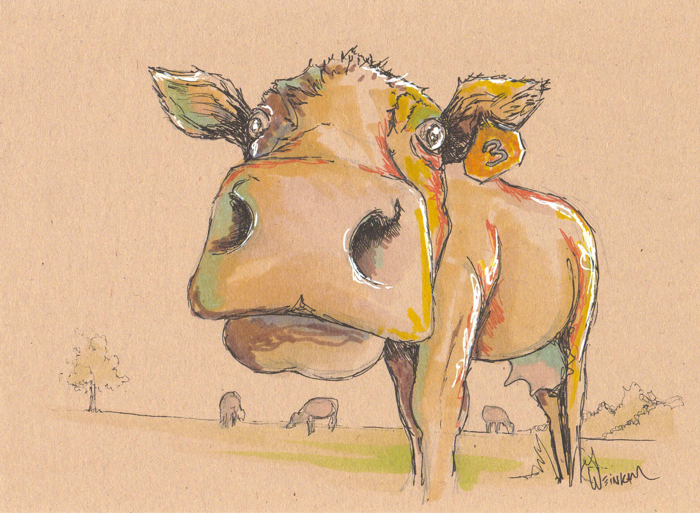 Cincinnat artist Todd Weinkam's Cow #3
