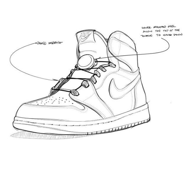 @reelboamike sketch when we announced to him that we wanted to create an @boafitsystem Air Jordan 1 with @theshoesurgeon