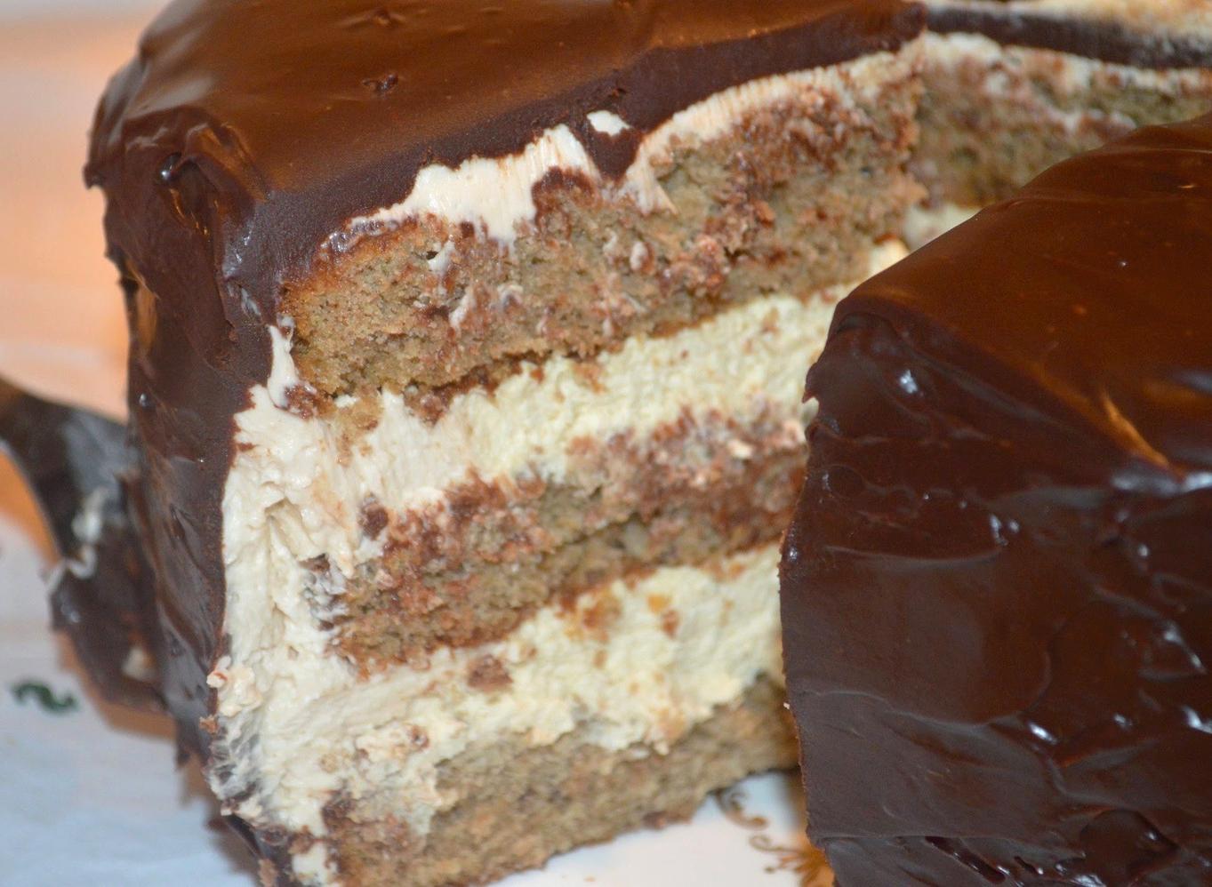 Chestnut Chocolate Layer Cake