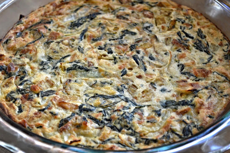 Skinnytaste's Crustless Swiss Chard Pie-Famous Fridays