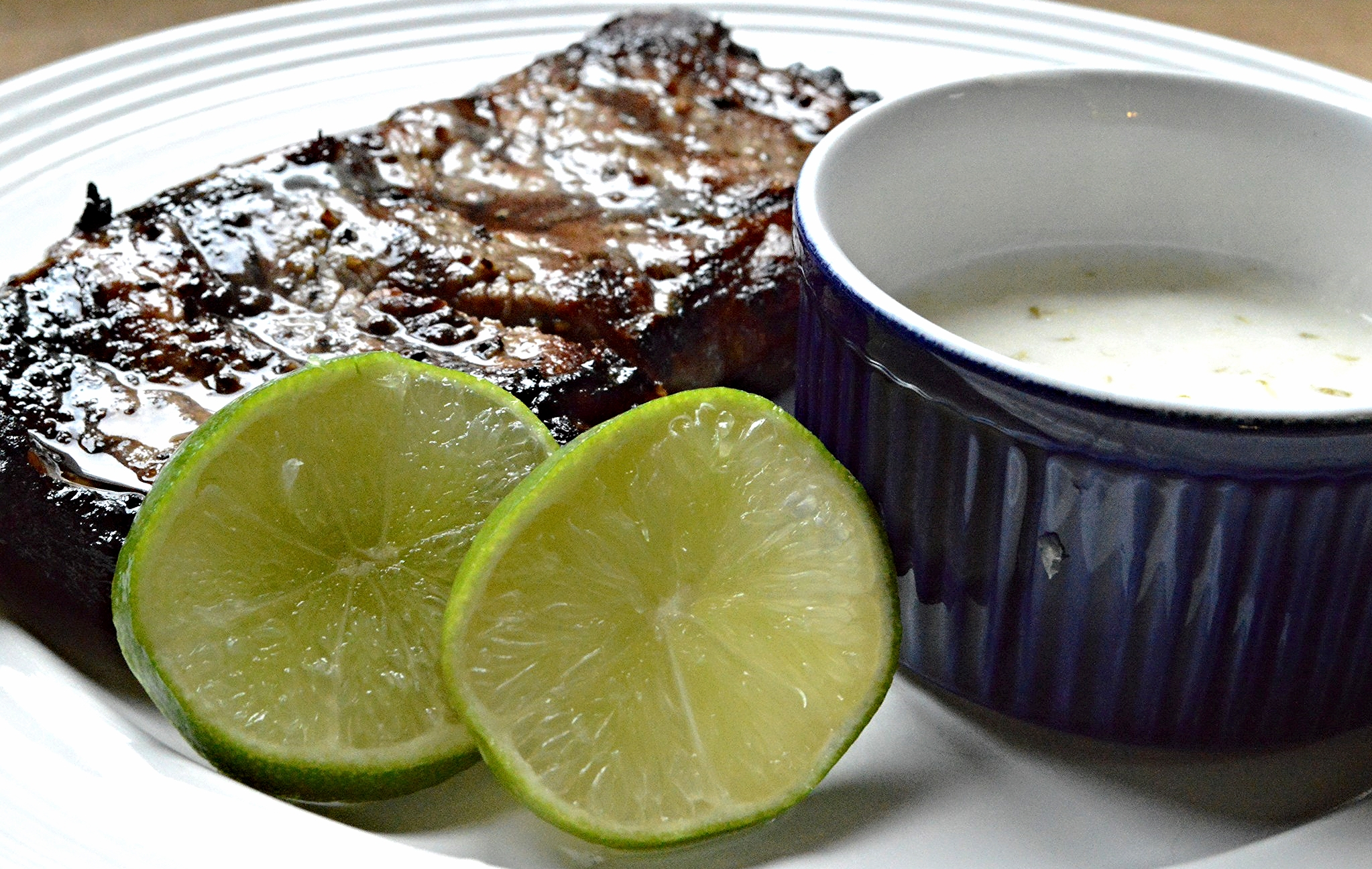 Grilled Steak with Coconut Lime Sauce
