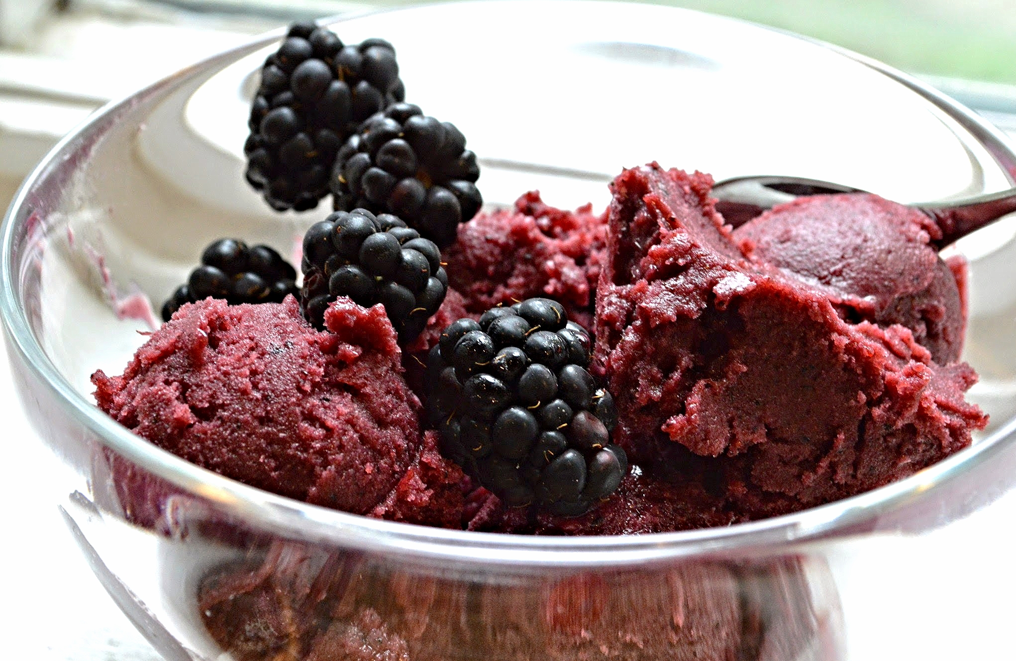 Blackberry Blueberry Buttermilk Sherbet