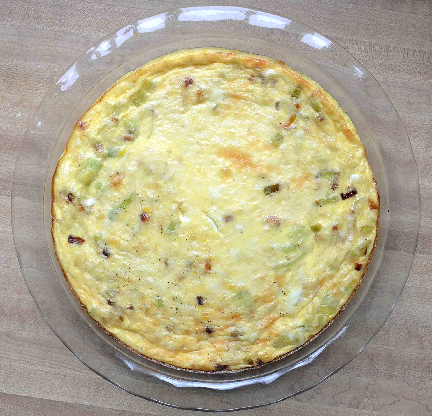 Crustless Leek and Swiss/Gruyere Quiche