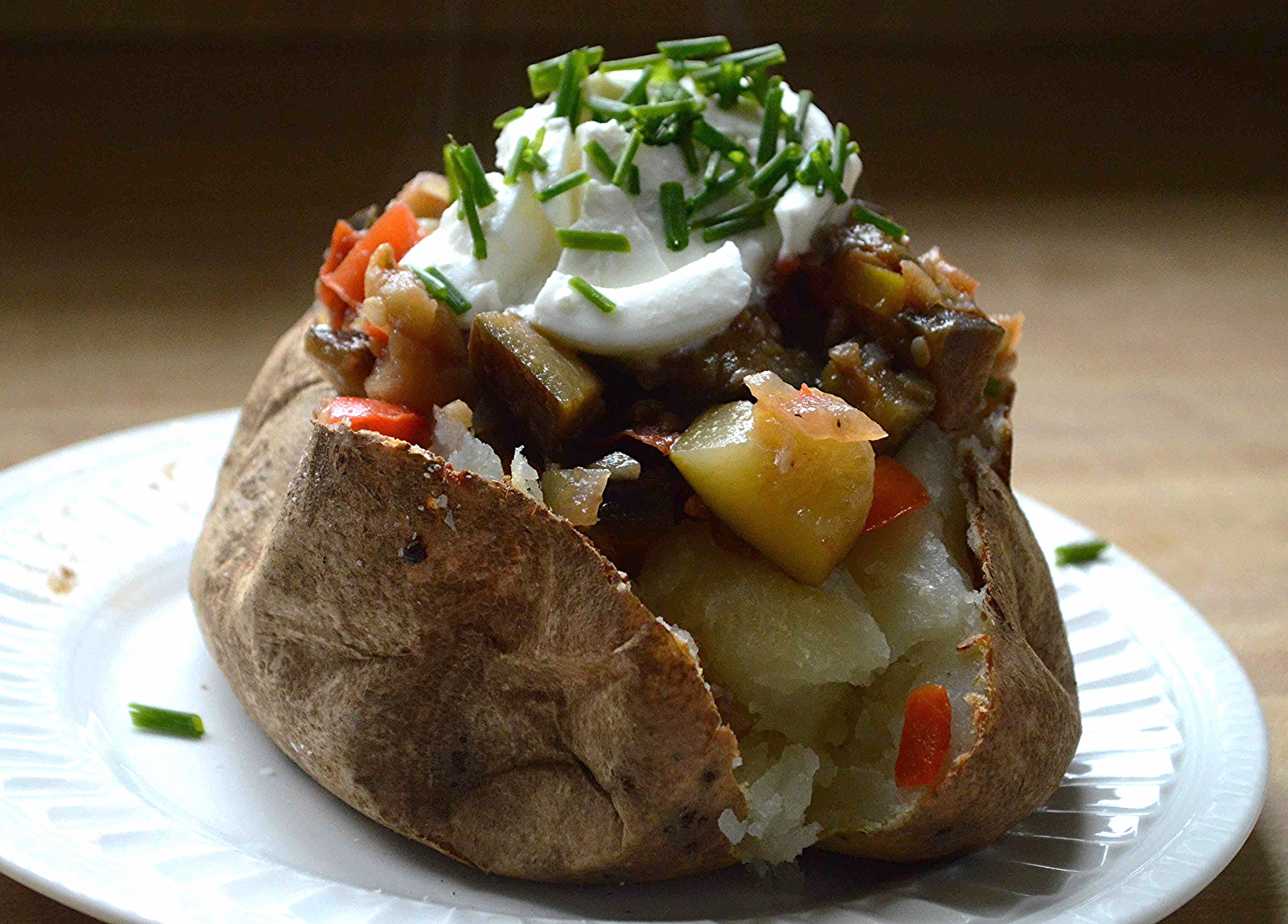 Ratatouille Stuffed Baked Potatoes