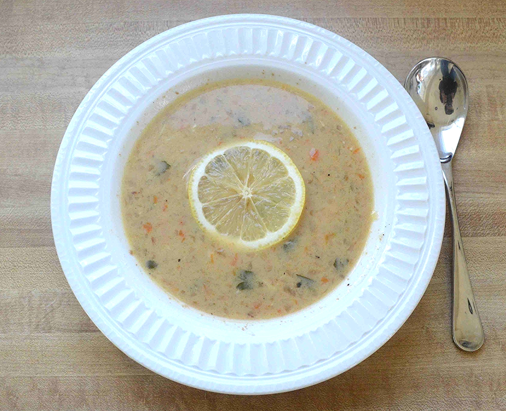 Rustic Greek Chicken and Lemon Soup