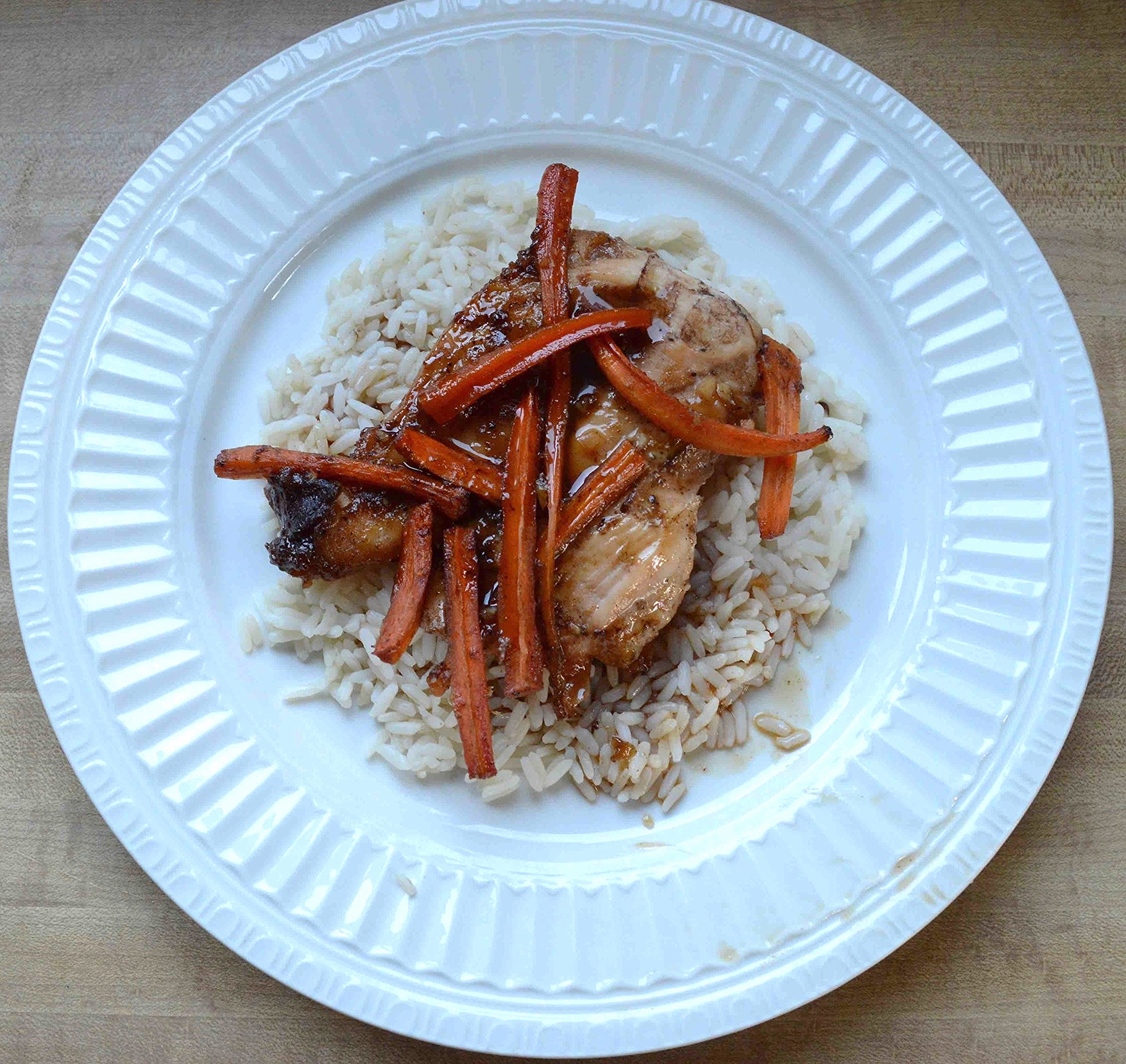 Robin's Plum-Marinated Chicken with Balsamic Roasted Carrots