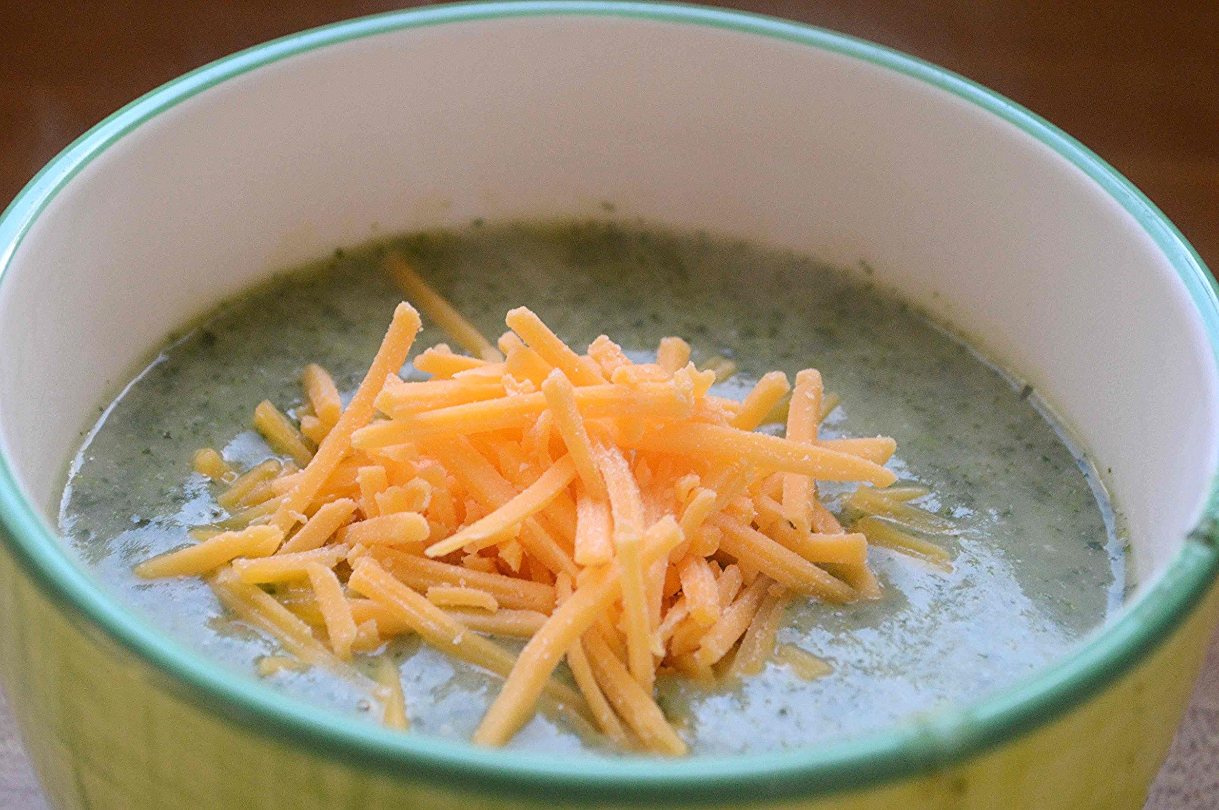 Broccoli Rabe Potato Soup with Cheddar