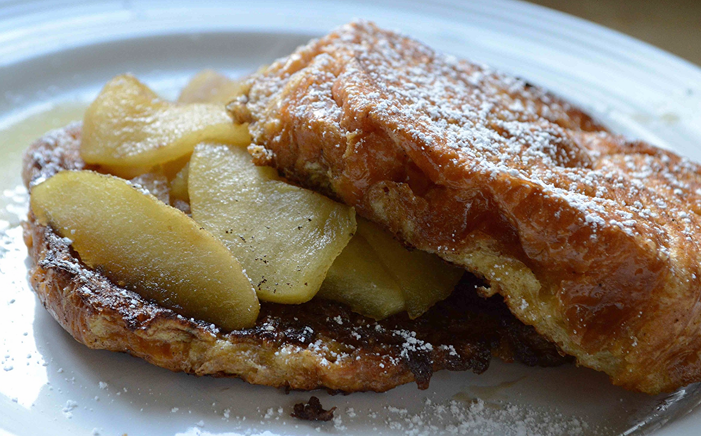 Tyler Florence's Croissant French Toast with Soft Caramel Apples