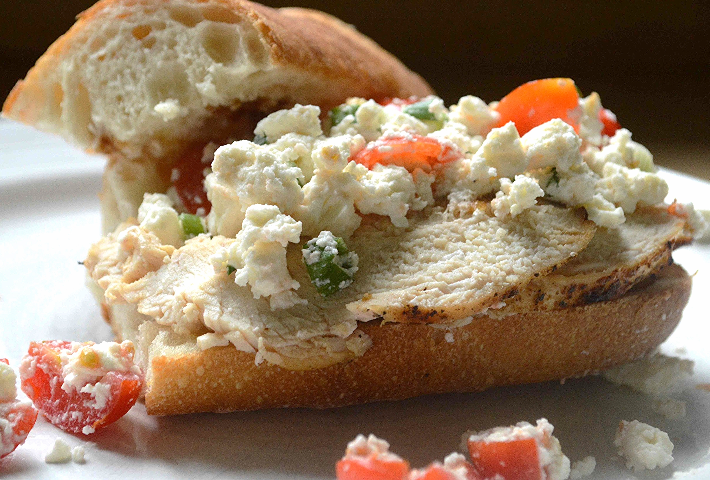 Easy Chicken and Feta Sandwiches
