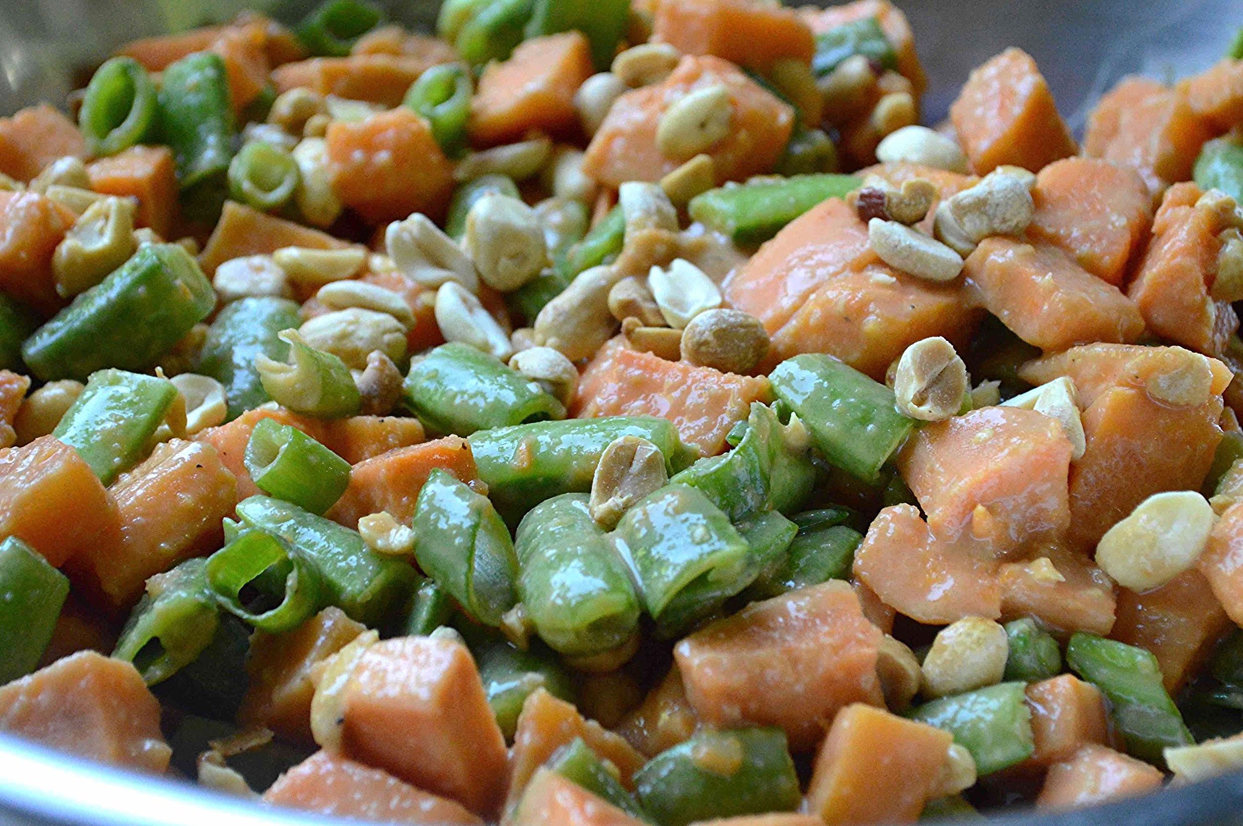 Spicy Peanutty Sweet Potato Salad