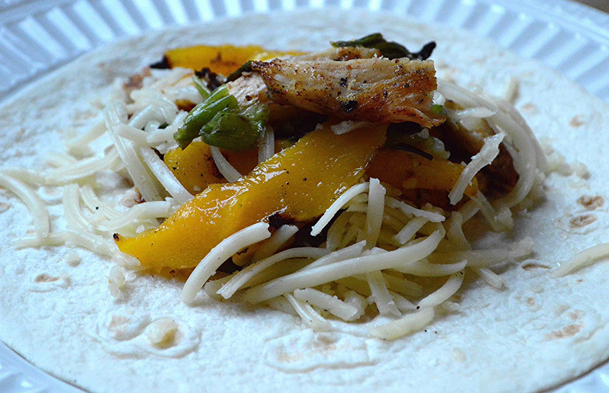 Chicken, Mango and Scallion Tacos
