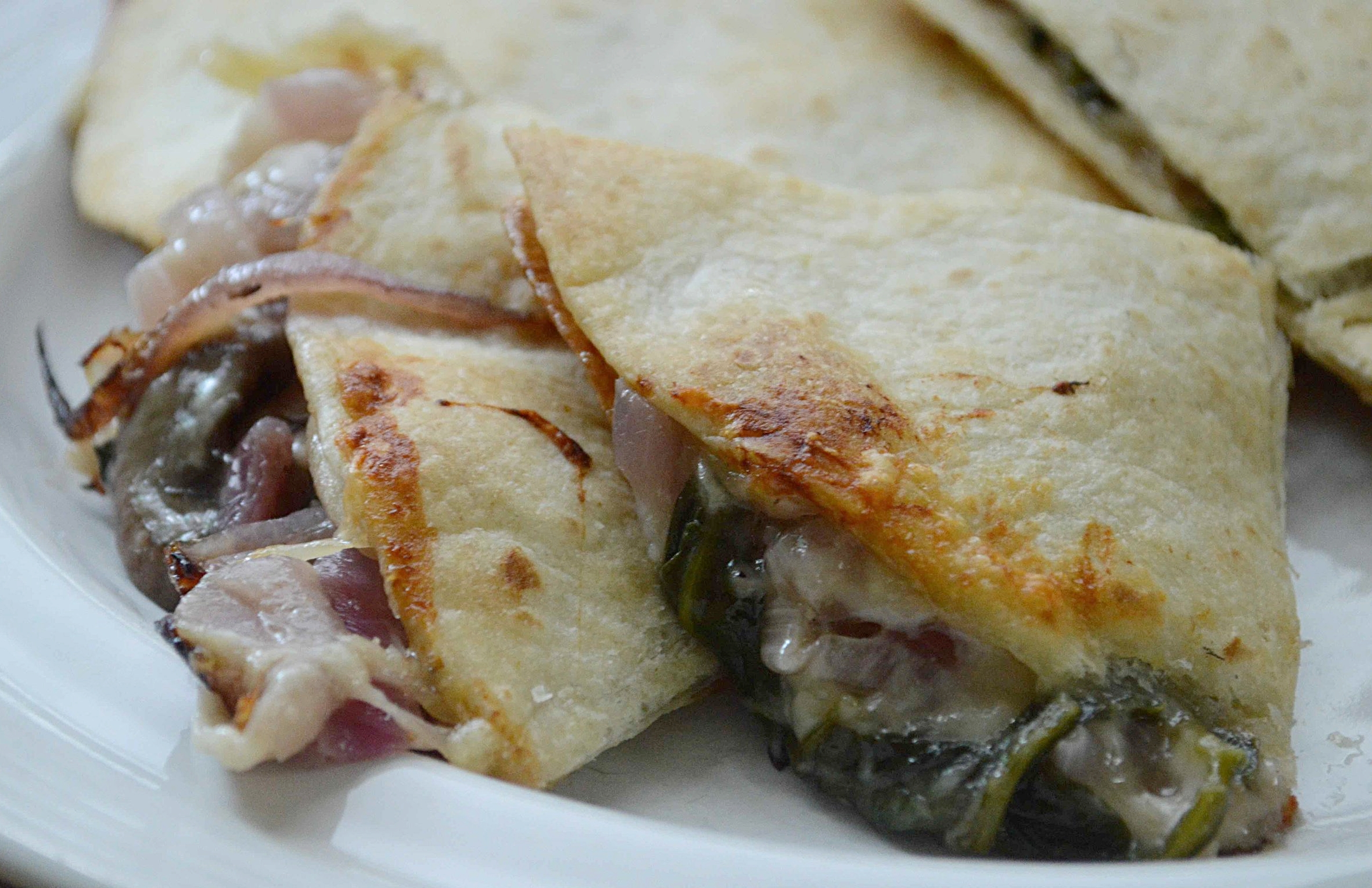 Mushroom and Spinach Quesadillas