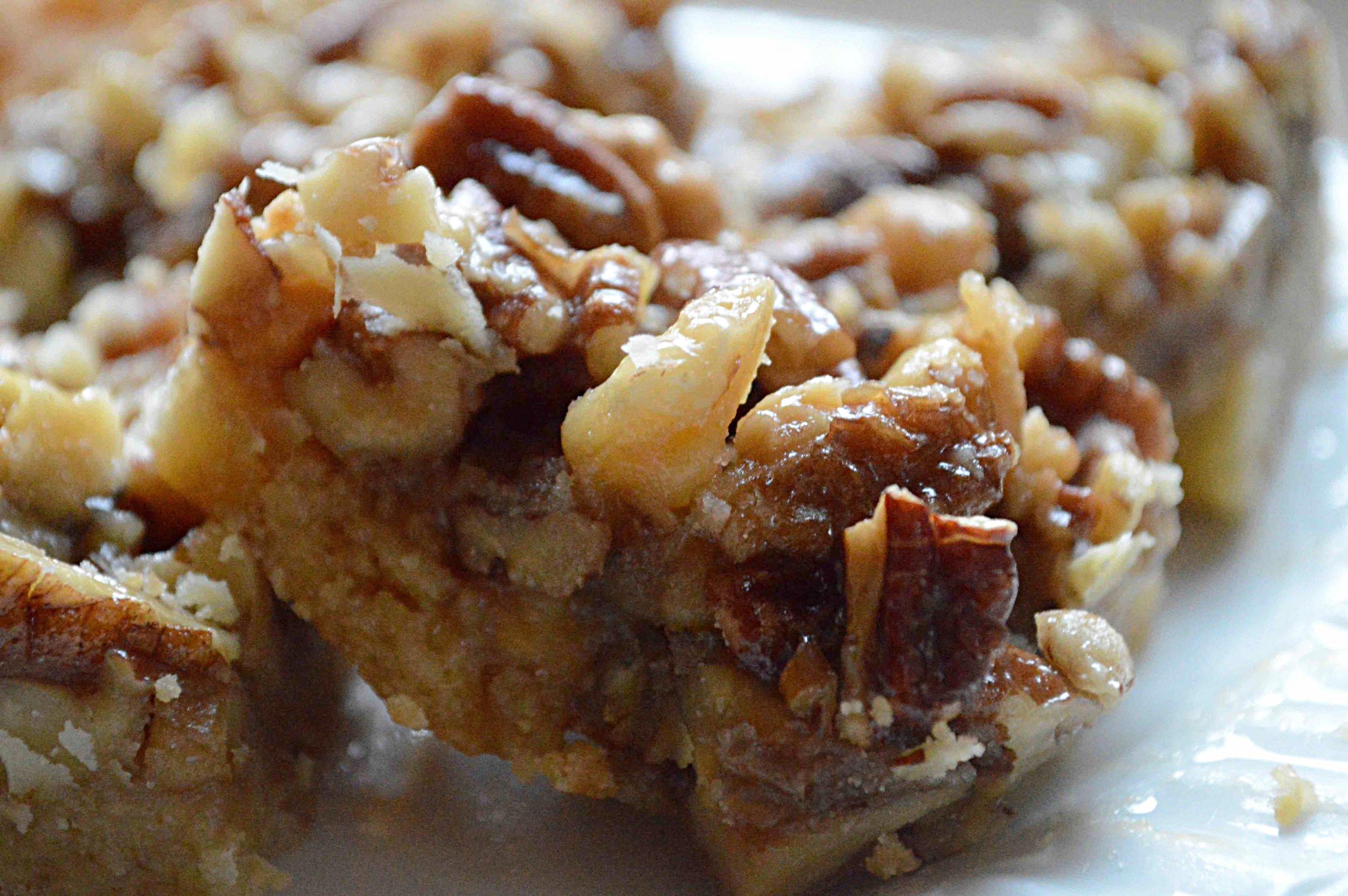 Sticky Maple Nut Bars