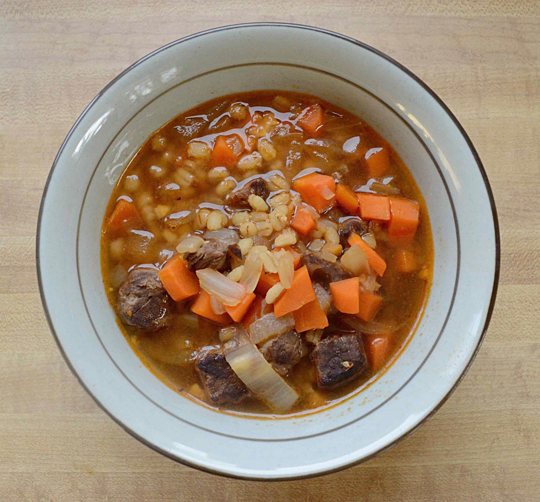 Weeknight Beef and Barley Soup