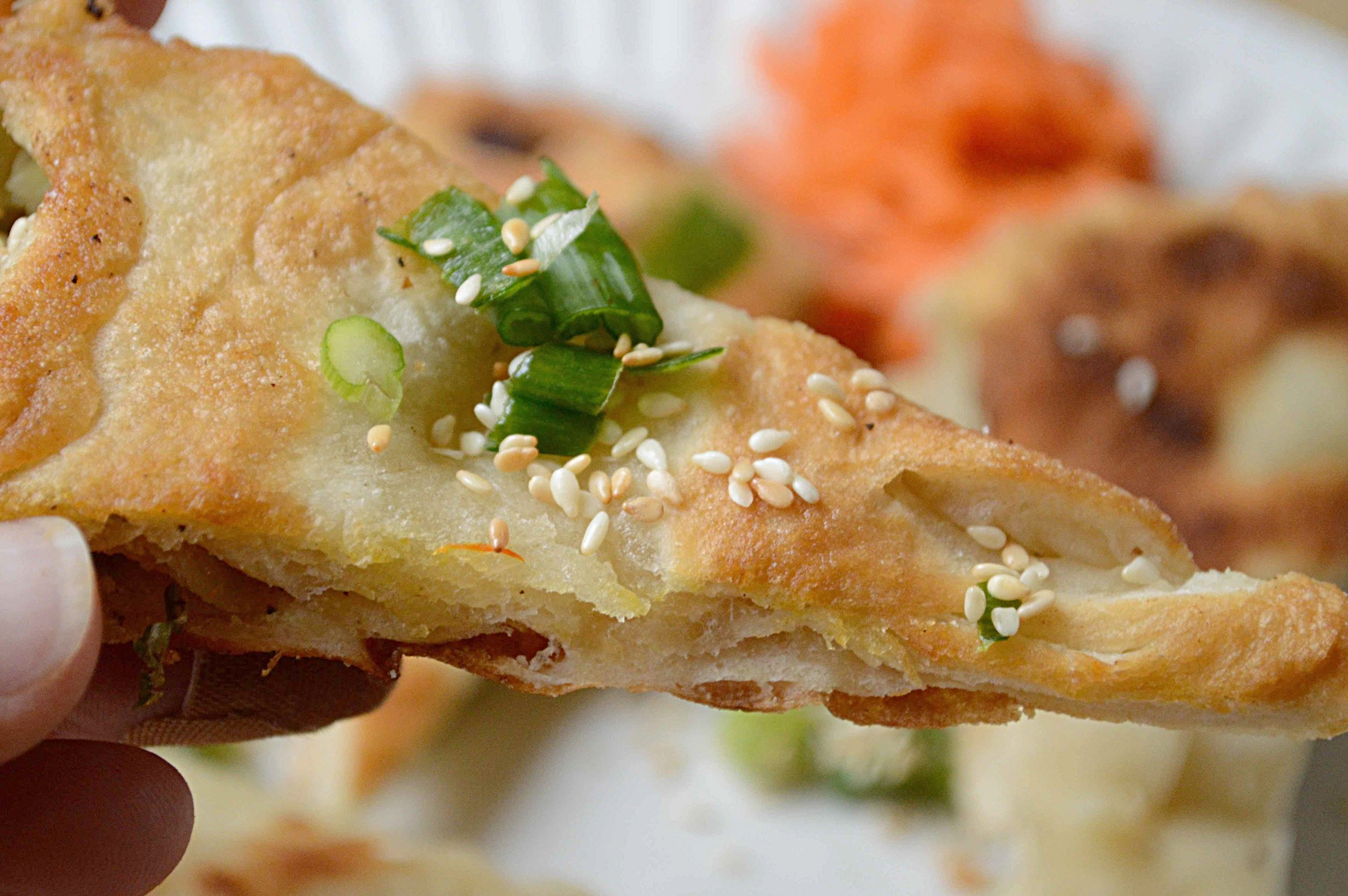 Molly's Scallion Pancakes and Maple Syrup Slaw