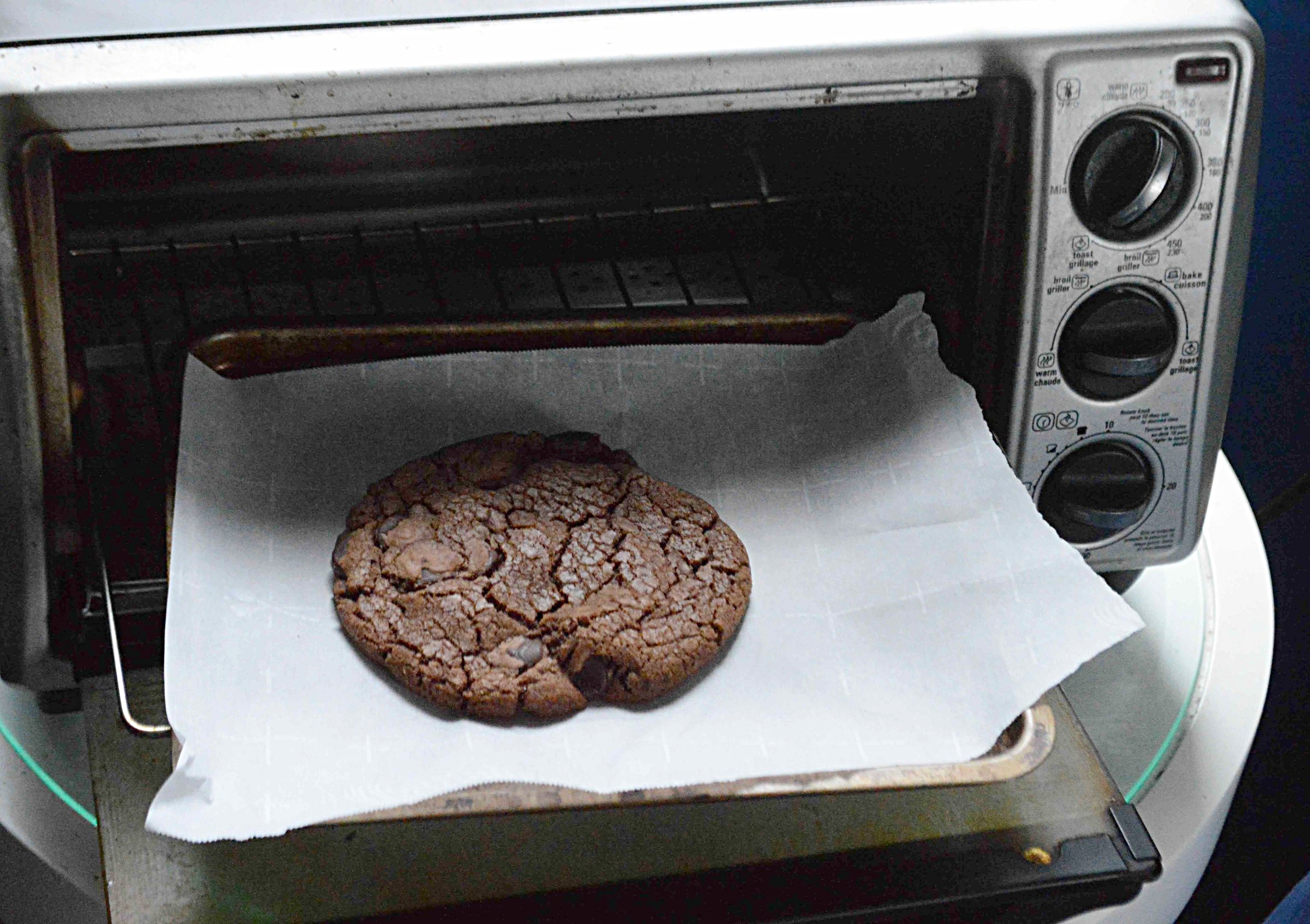Small Batch Toaster Oven Double Chocolate Cookies