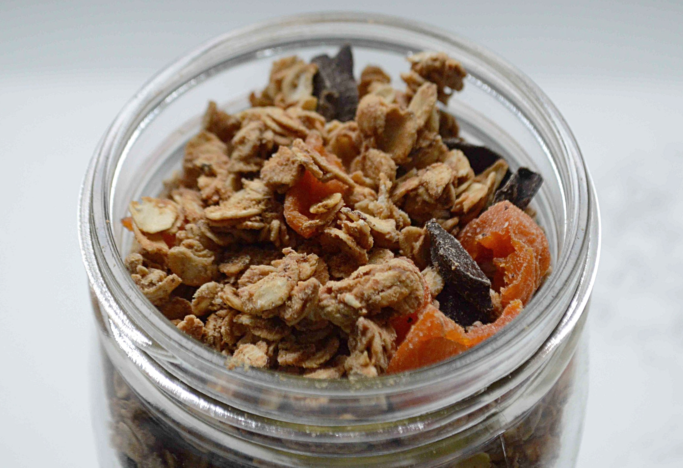 Peanut Butter Granola with Chocolate and Apricots
