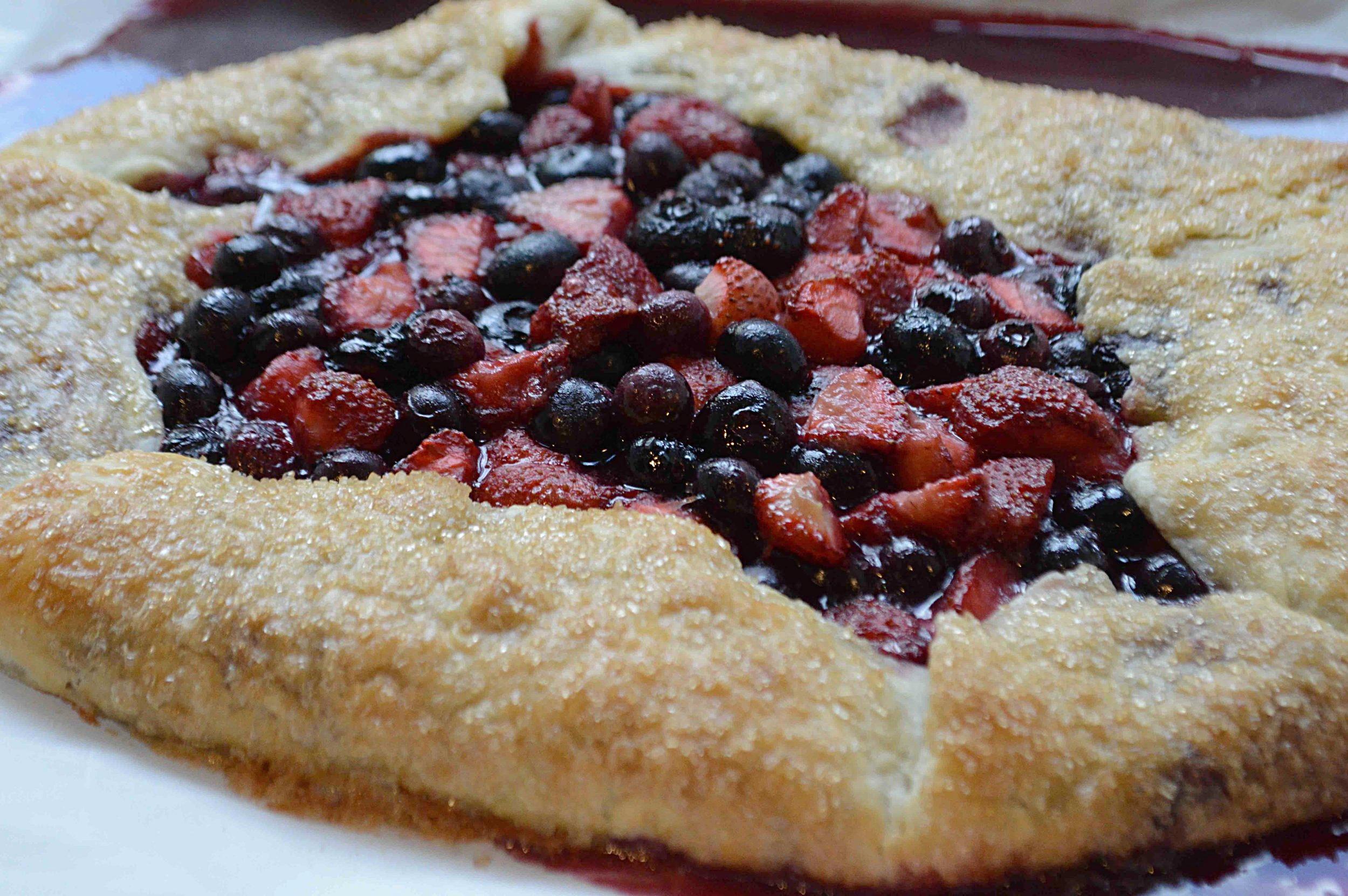 Strawberry Blueberry Crostata