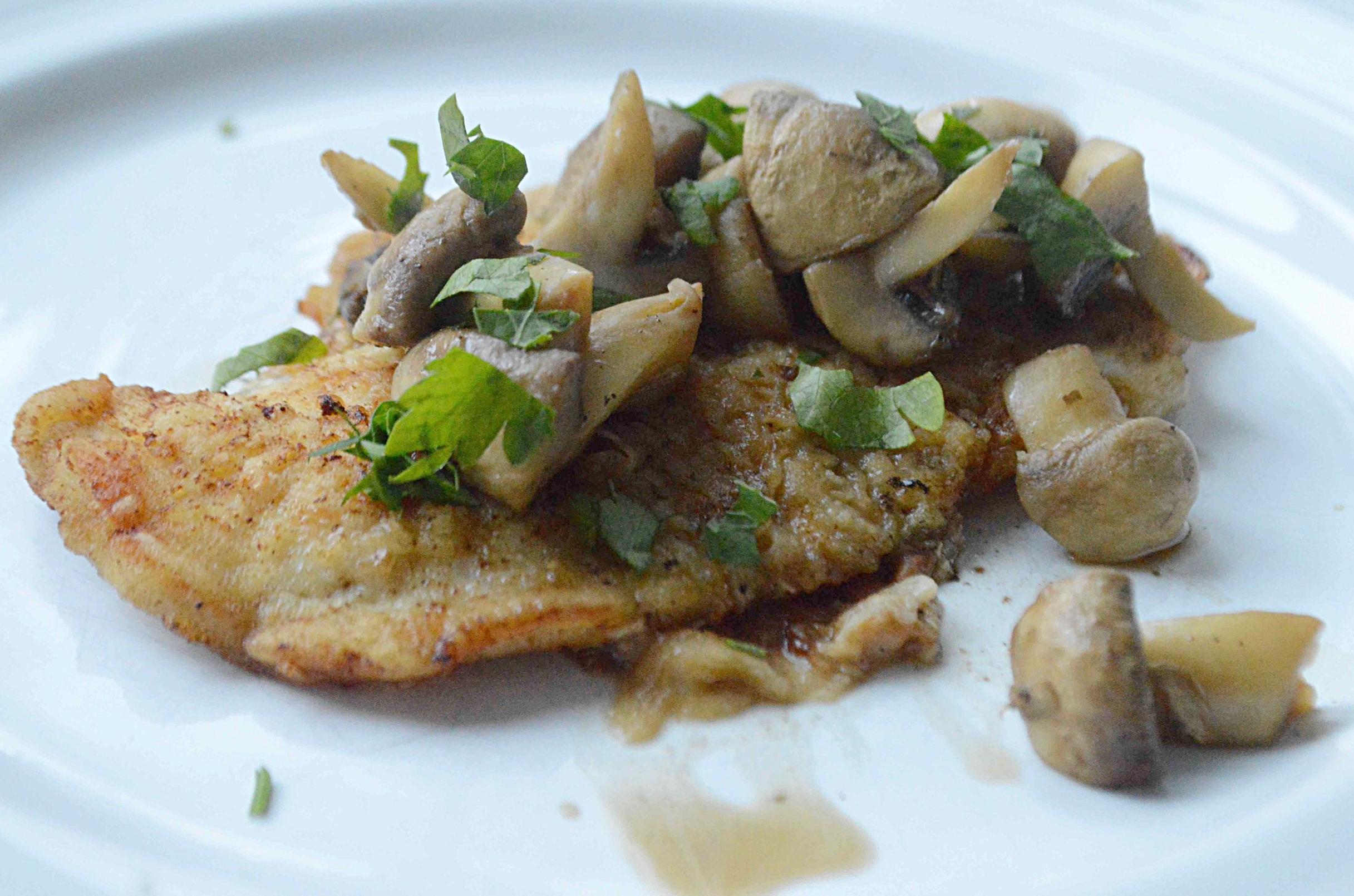 Easy Sautéed Chicken and Mushrooms
