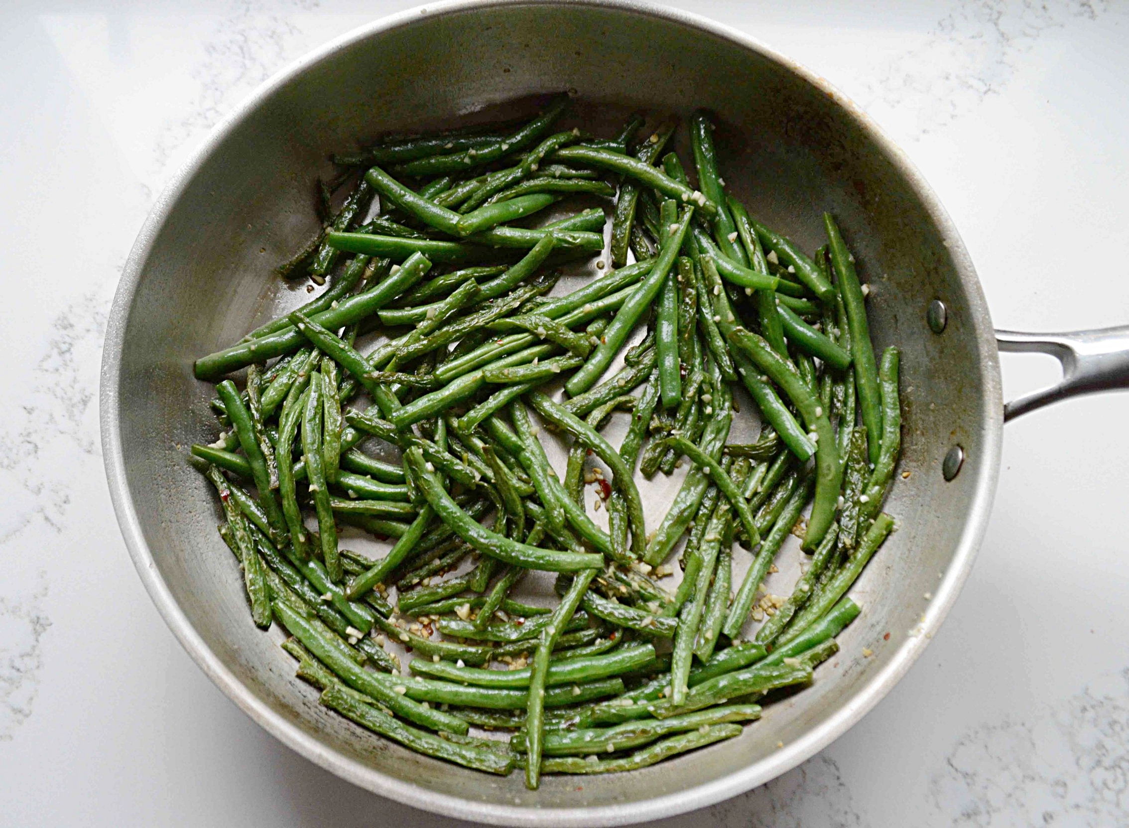 Spicy Seared Green Beans