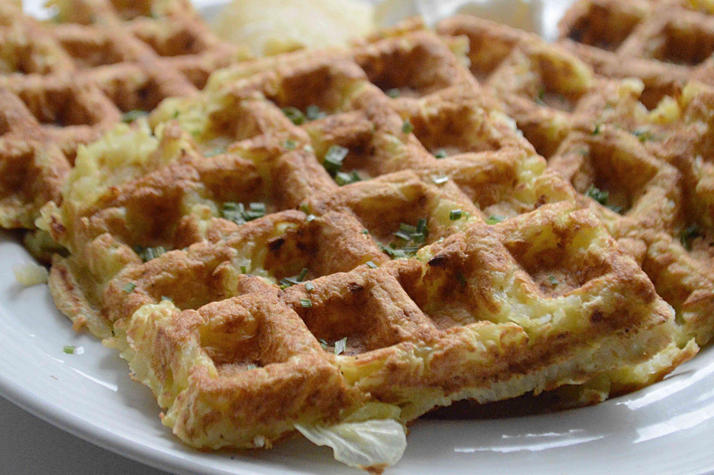 Hanukkah Latke Waffles