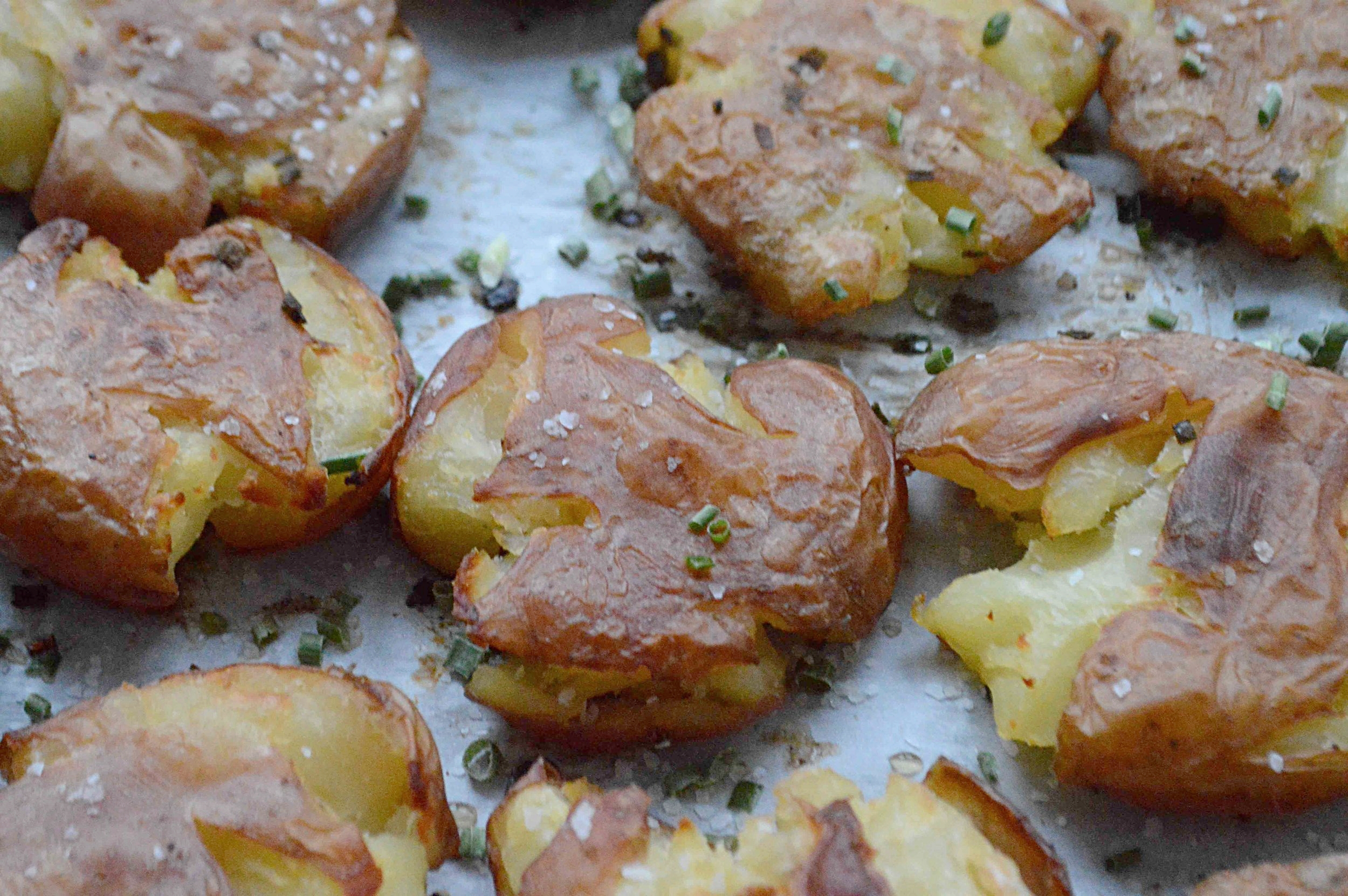 Smashed Salt 'N Vinegar Potatoes