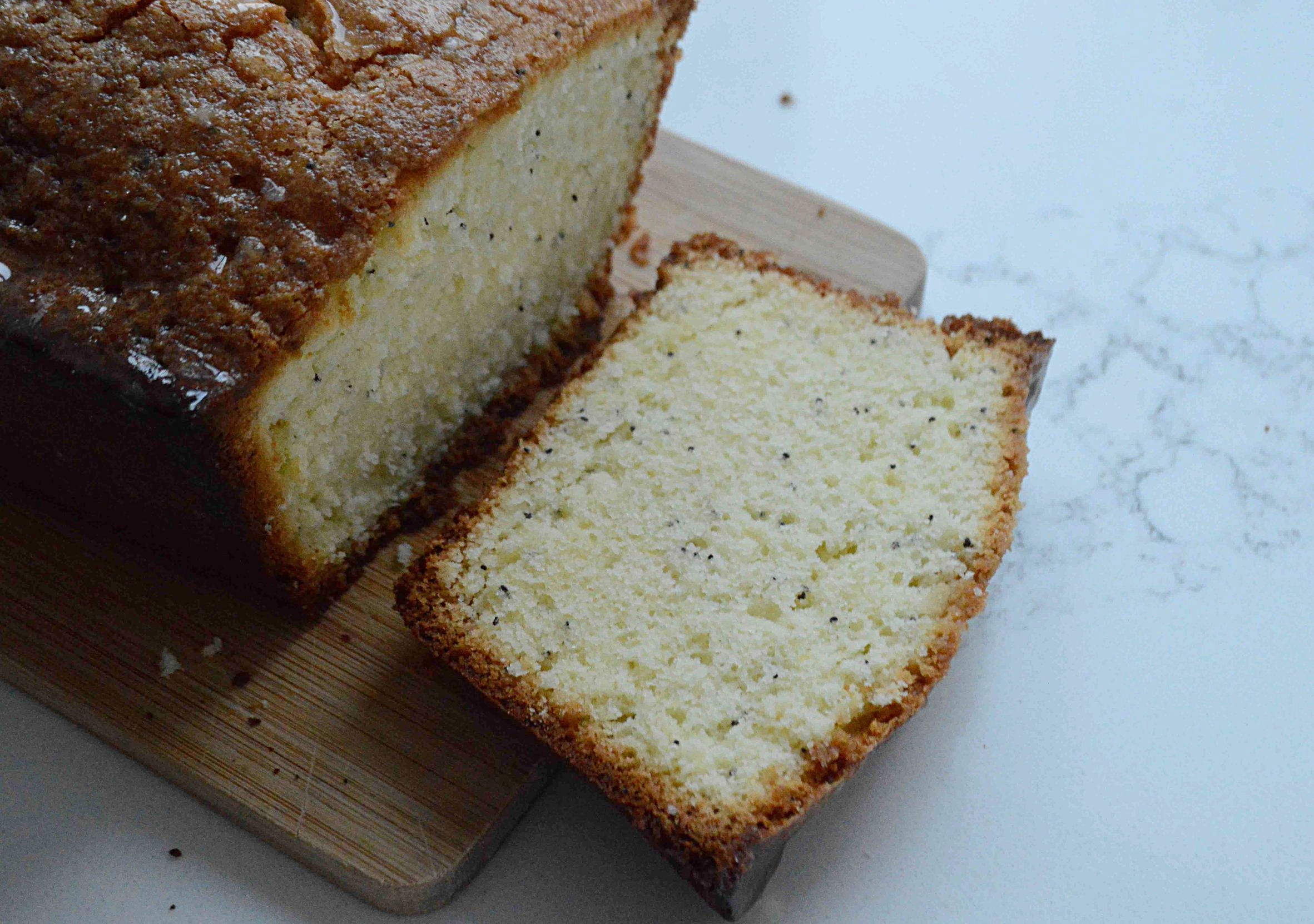 Glazed Lemon and Poppyseed Loaf