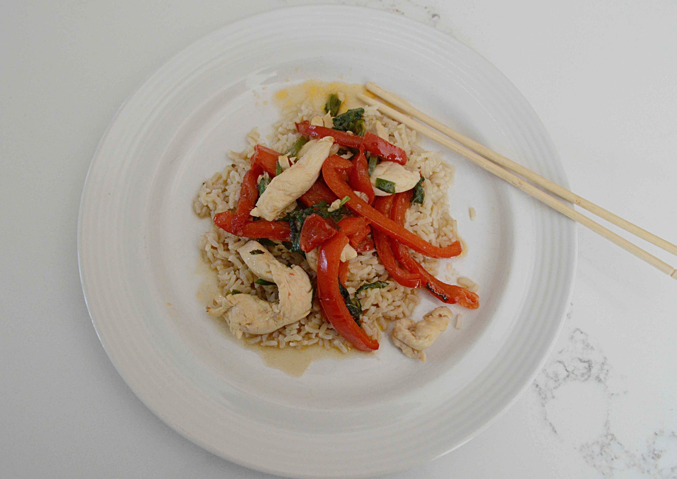 Chicken and Basil Stir-Fry, Thai-Style