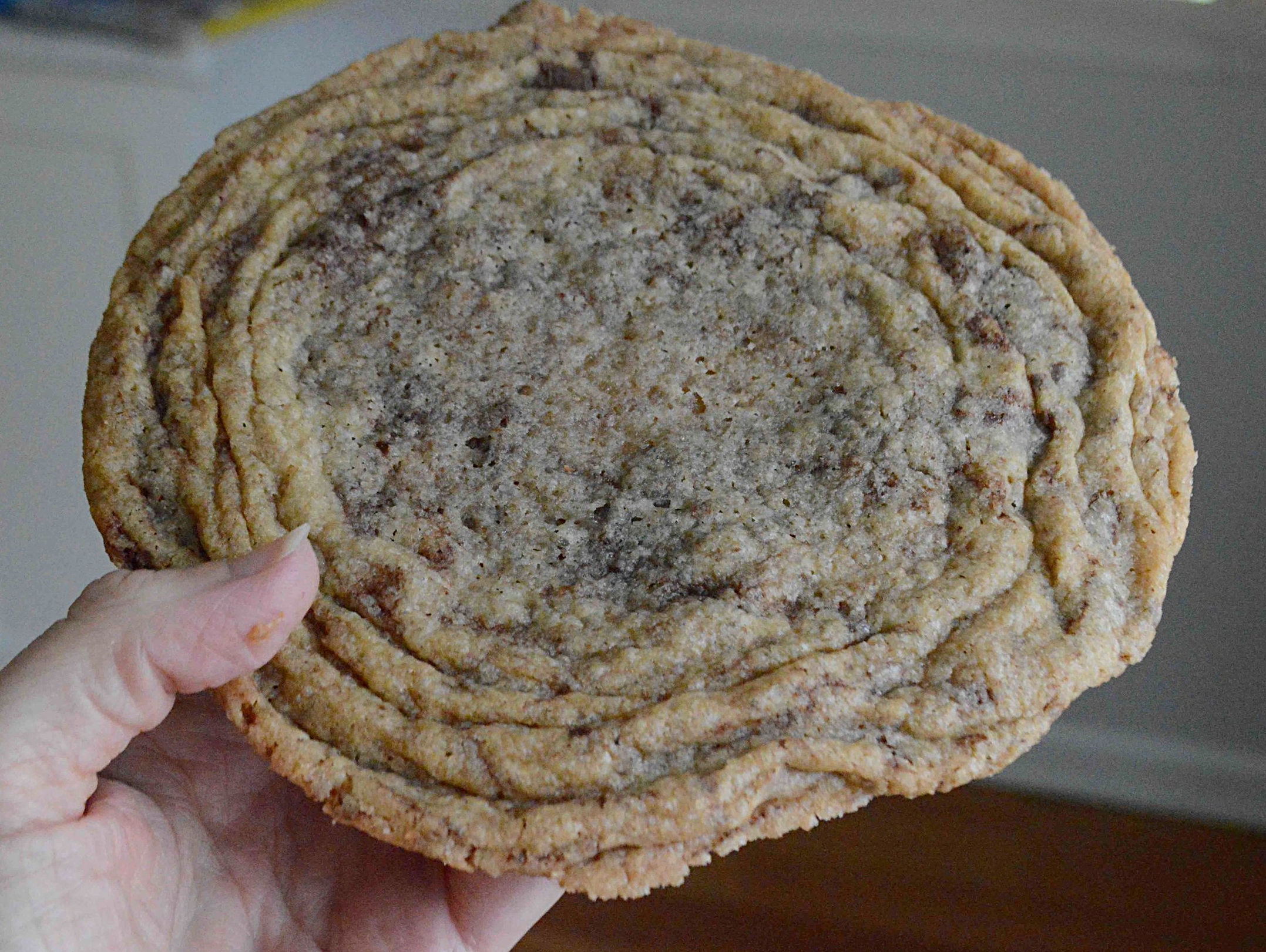 Extremely Enormous and Very Crinkly Chocolate Chip Cookies