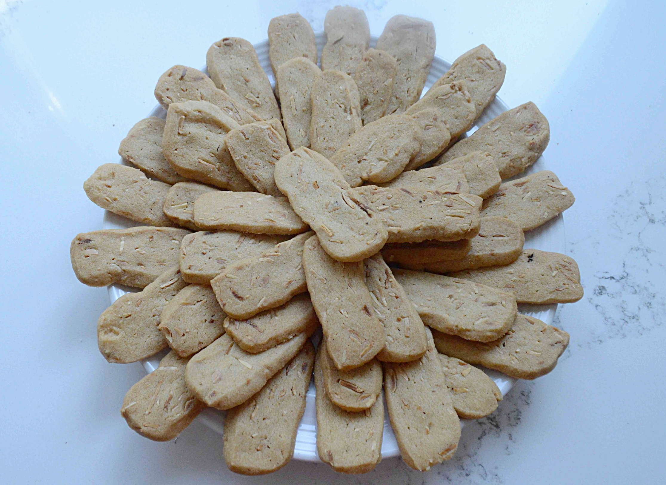 Slice 'n Bake Butter Cookies with Almonds