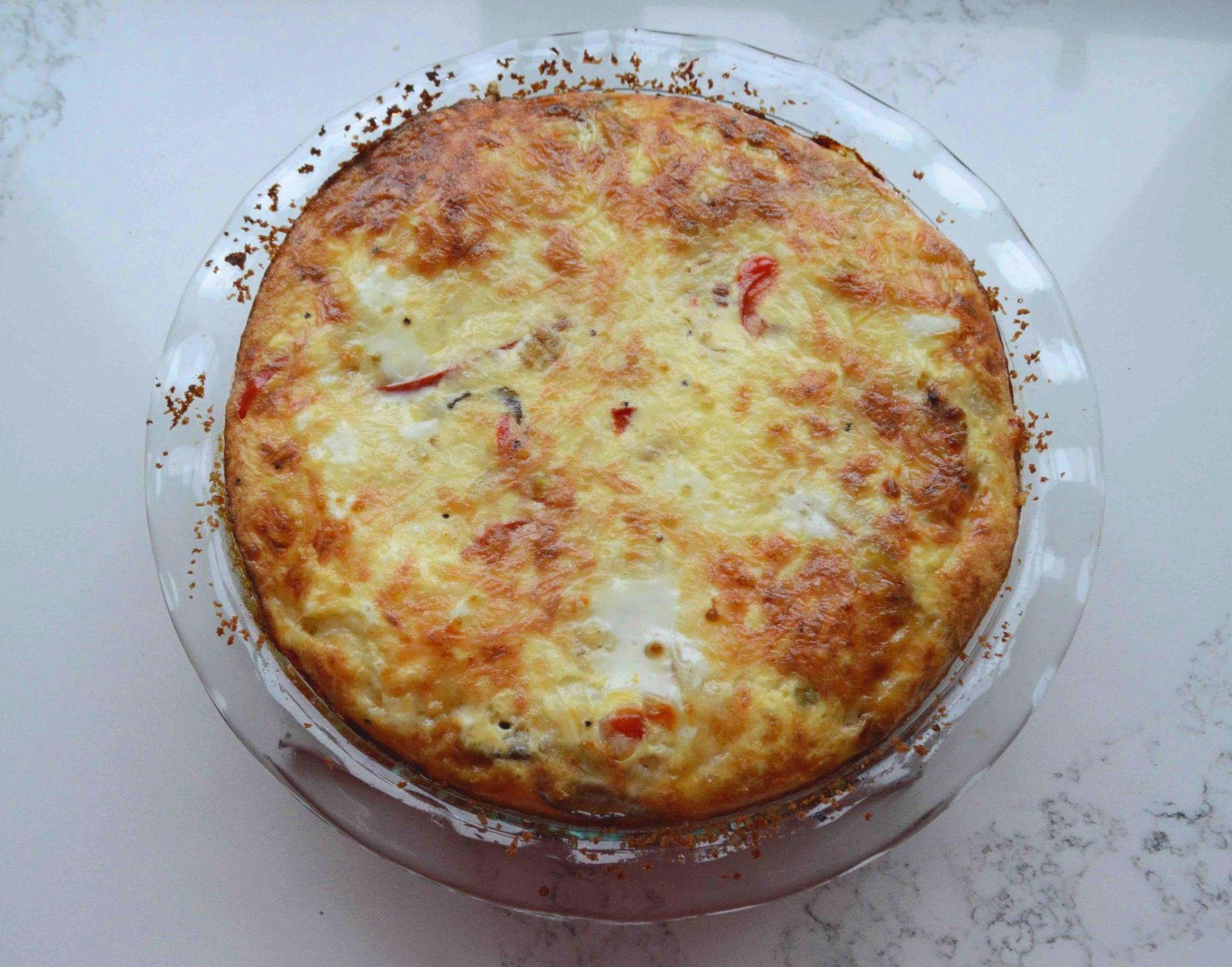 Another+Crustless+Quiche%3A+Caramelized+Onion%2C+Mushroom%2C+Red+Pepper+and+Fontina