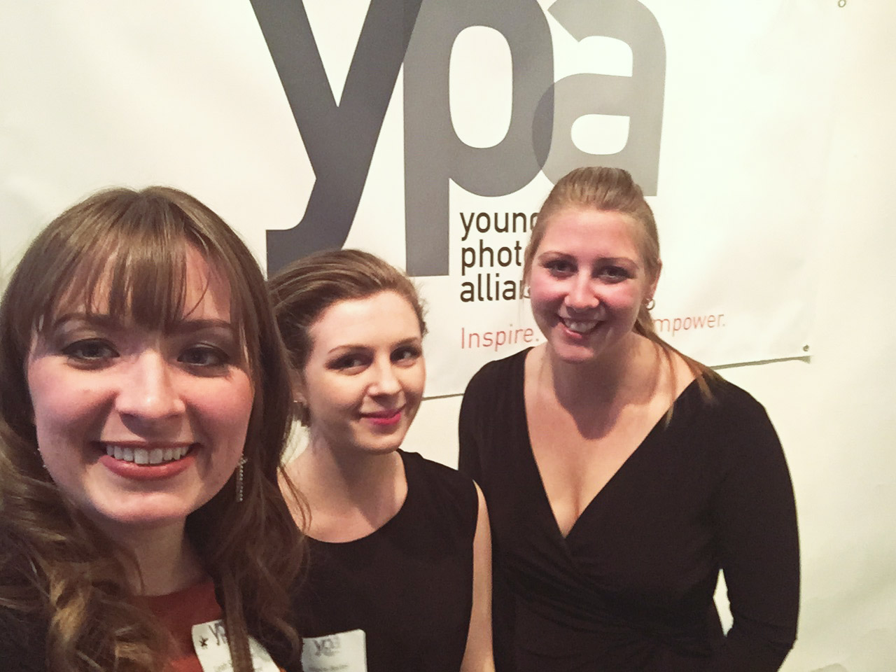 (Left to Right) Myself, Allaire, and Mariah at the  Boundaries  gallery in New York City held at The Art Directors Club on February 24, 2015.