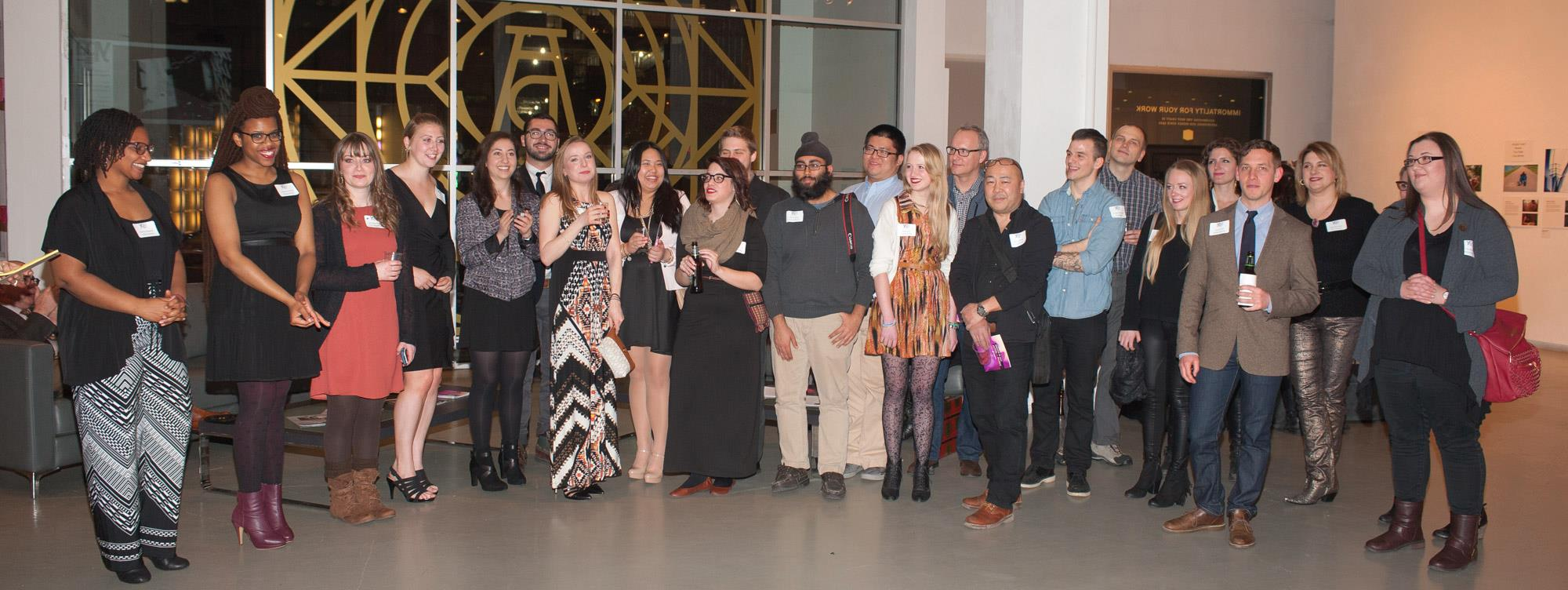 Standing with YPA Mentees and Mentors from across the U.S., Canada, and England that were able to be at the New York gallery.  (Photo from  Young Photographers Alliance Facebook page , photo by Lawrence Lucier)