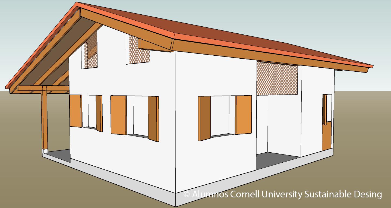 Vista posterior. Diseño arquitectónico elaborado por alumnos CUSD