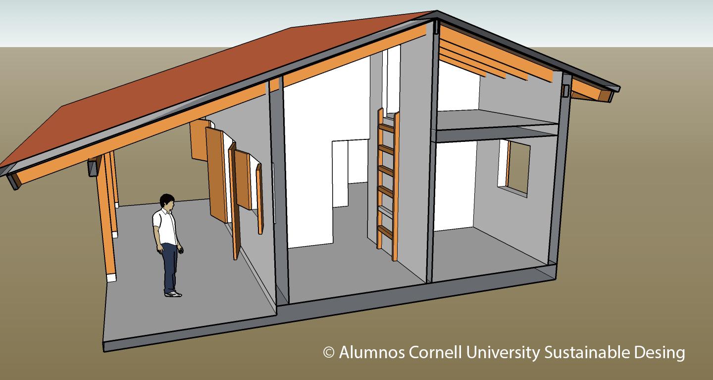 Corte. Diseño arquitectónico elaborado por alumnos CUSD